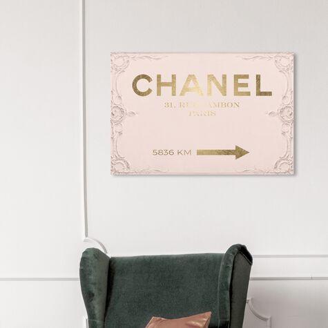 Couture Road Sign Rococo Gold Blush