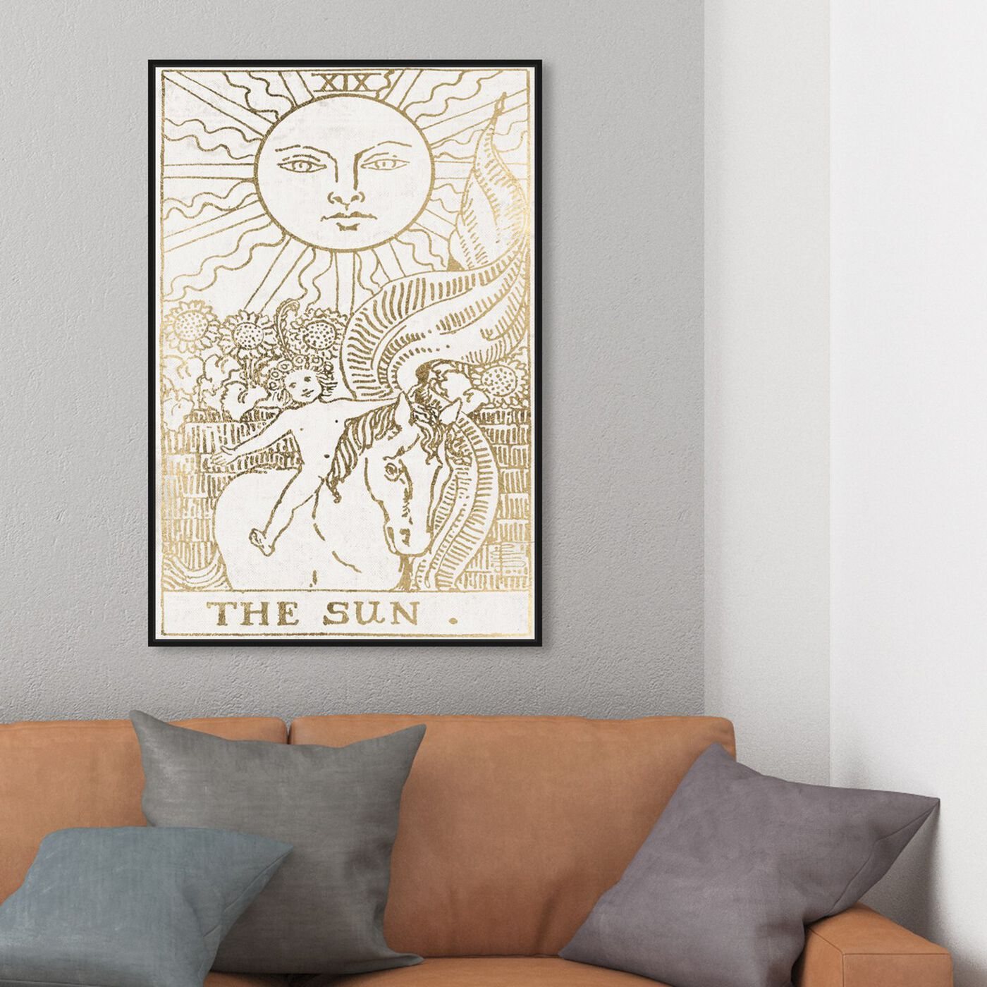Hanging view of The Sun Tarot Luxe featuring astronomy and space and zodiac art.