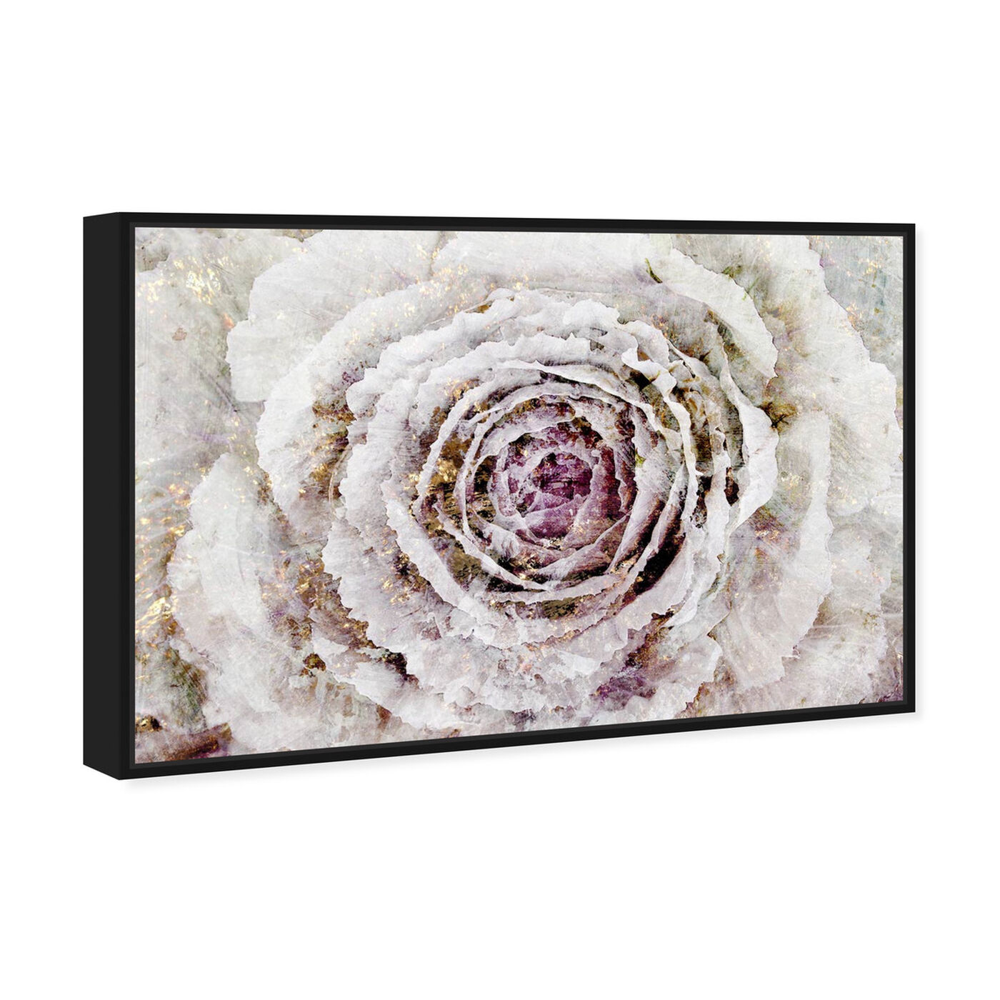 Angled view of Winter New York Flower featuring floral and botanical and florals art.