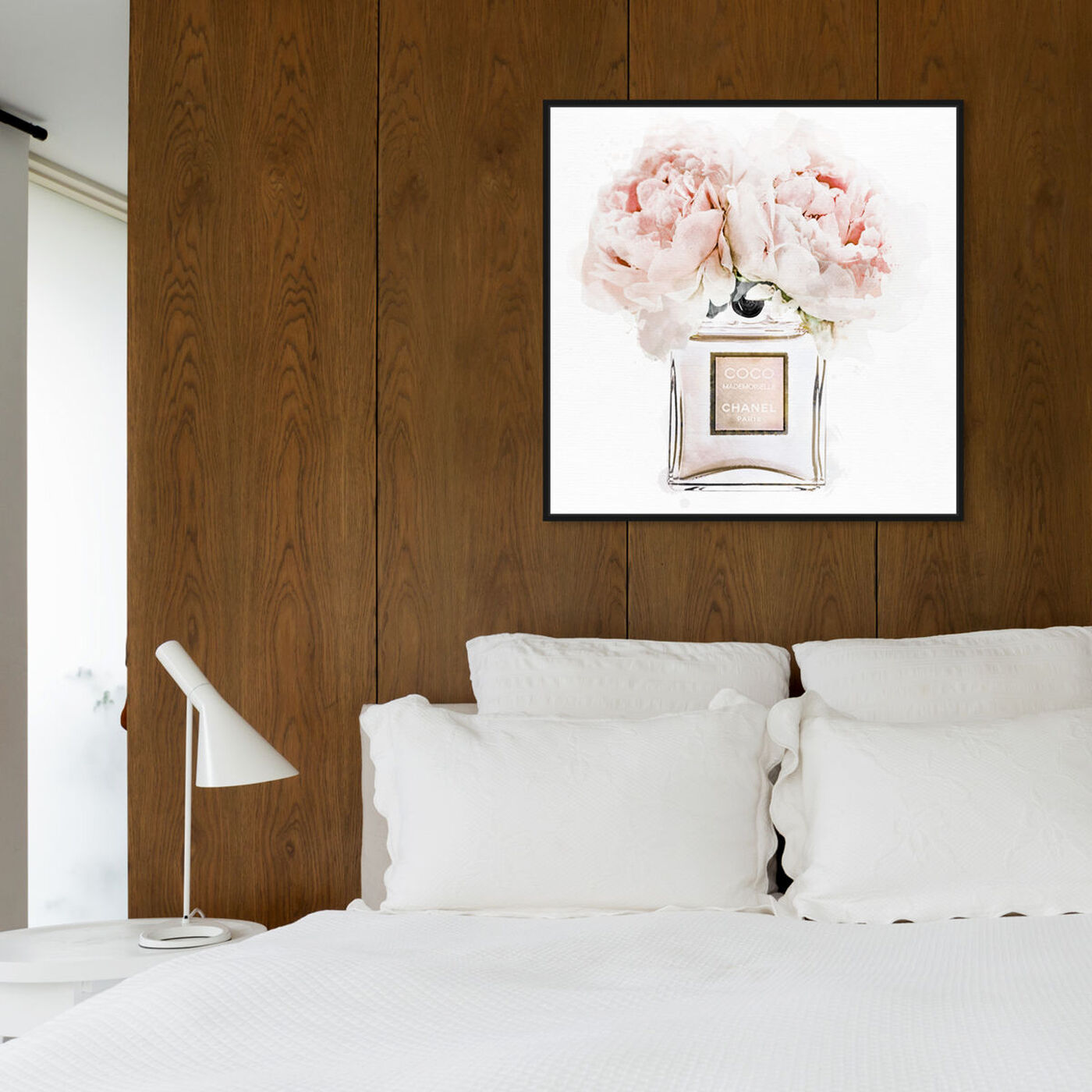 Hanging view of Dawn Morning Bouquet Peach featuring fashion and glam and perfumes art.