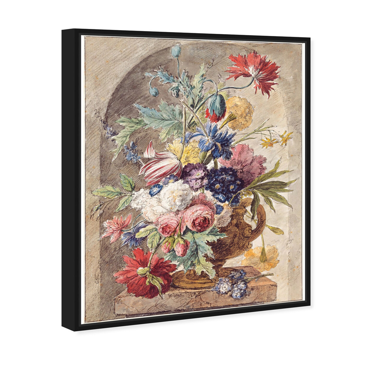 Angled view of Huysum - Flower Still Life featuring classic and figurative and renaissance art.