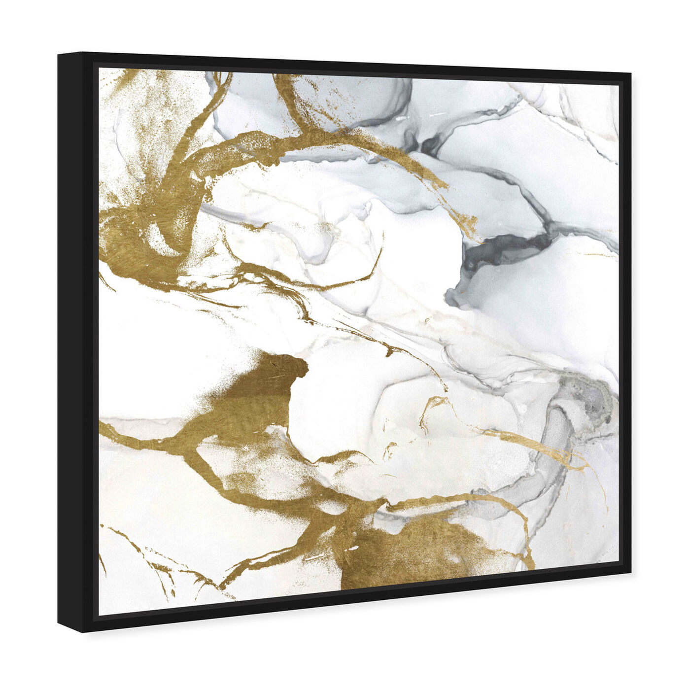 Angled view of Love Marble featuring abstract and crystals art.