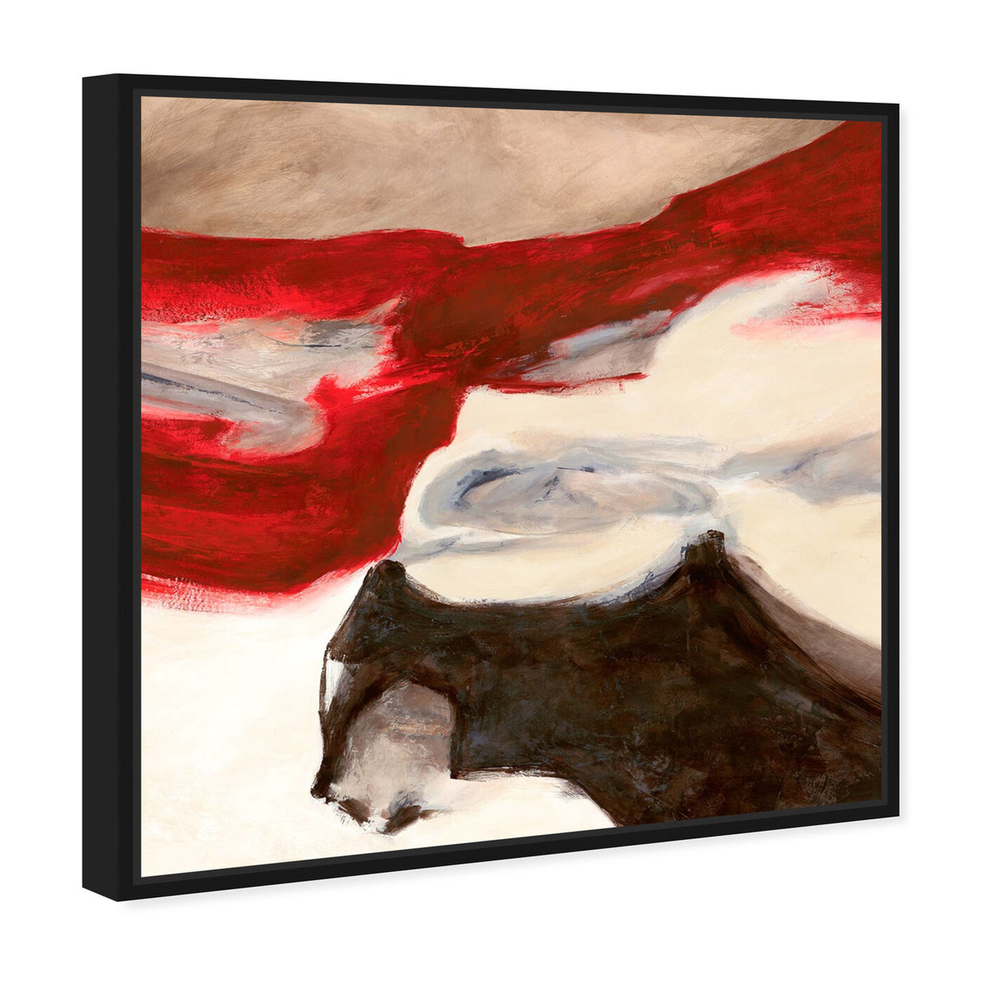 Angled view of Sai - Rubrum IV featuring abstract and paint art.