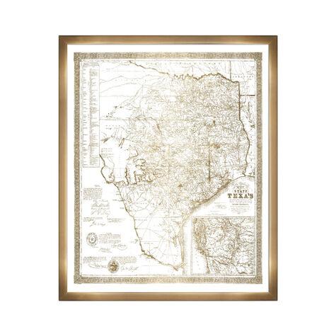 Texas 1856- Gold Metallic