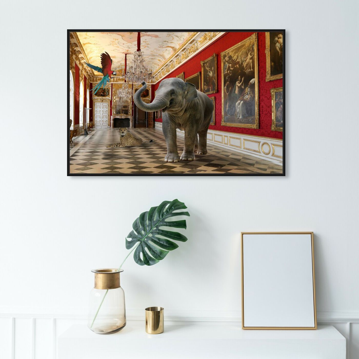 Hanging view of Delicate as an Elephant can Be featuring animals and zoo and wild animals art.