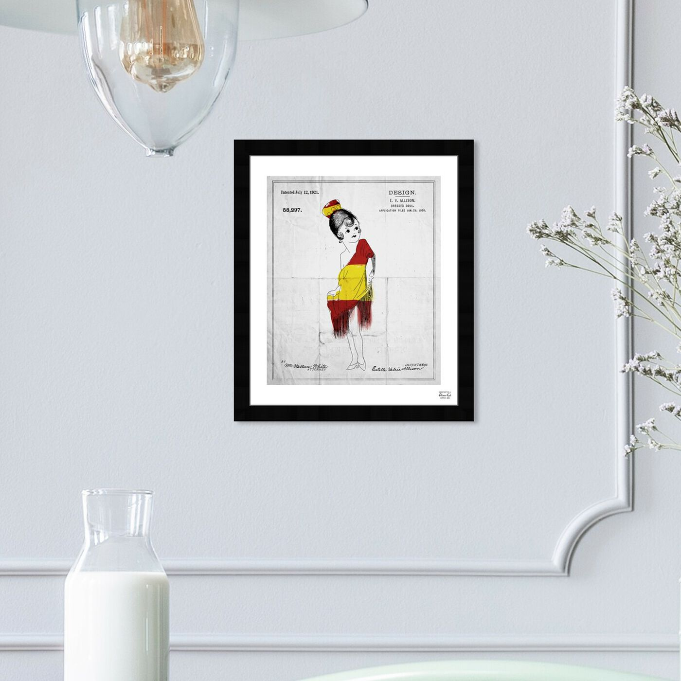 Hanging view of Dressed Doll 1921 featuring entertainment and hobbies and toys art.