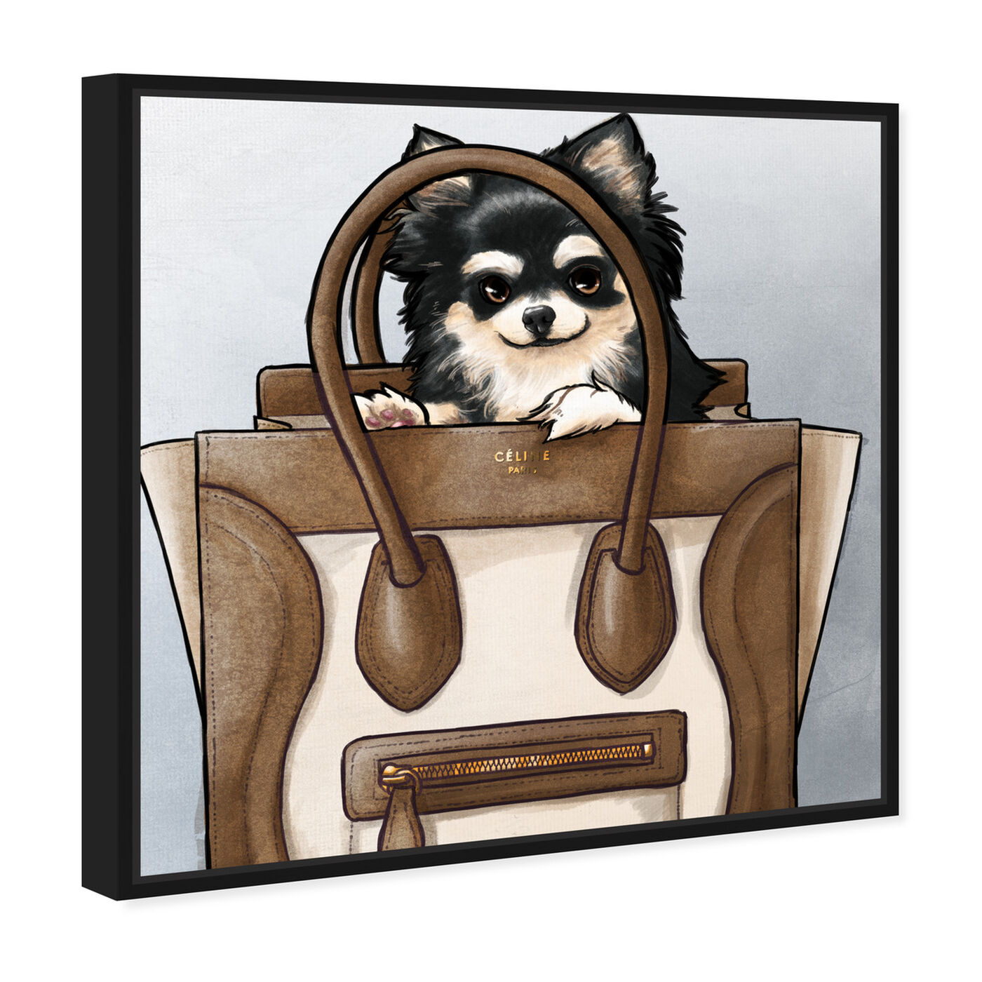 Angled view of Friendly Peek Light featuring fashion and glam and handbags art.