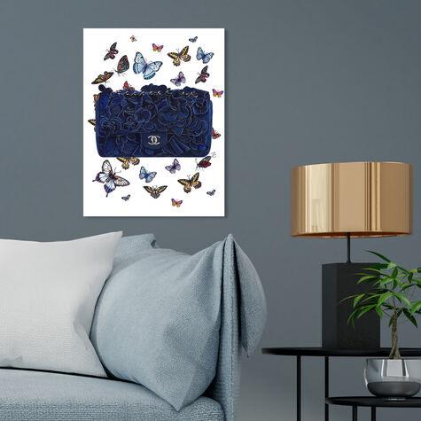 Doll Memories - Butterflies Blue Bag