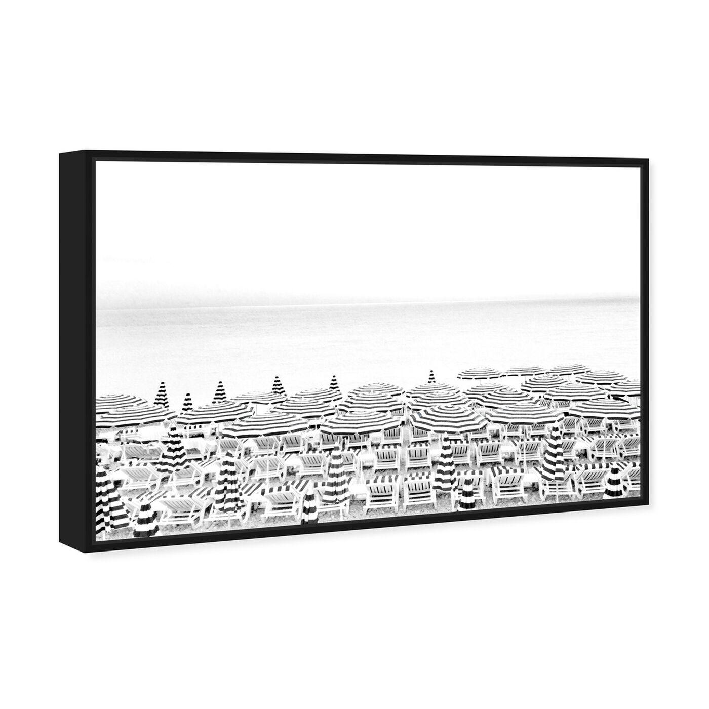 Angled view of Parasol featuring nautical and coastal and coastal art.