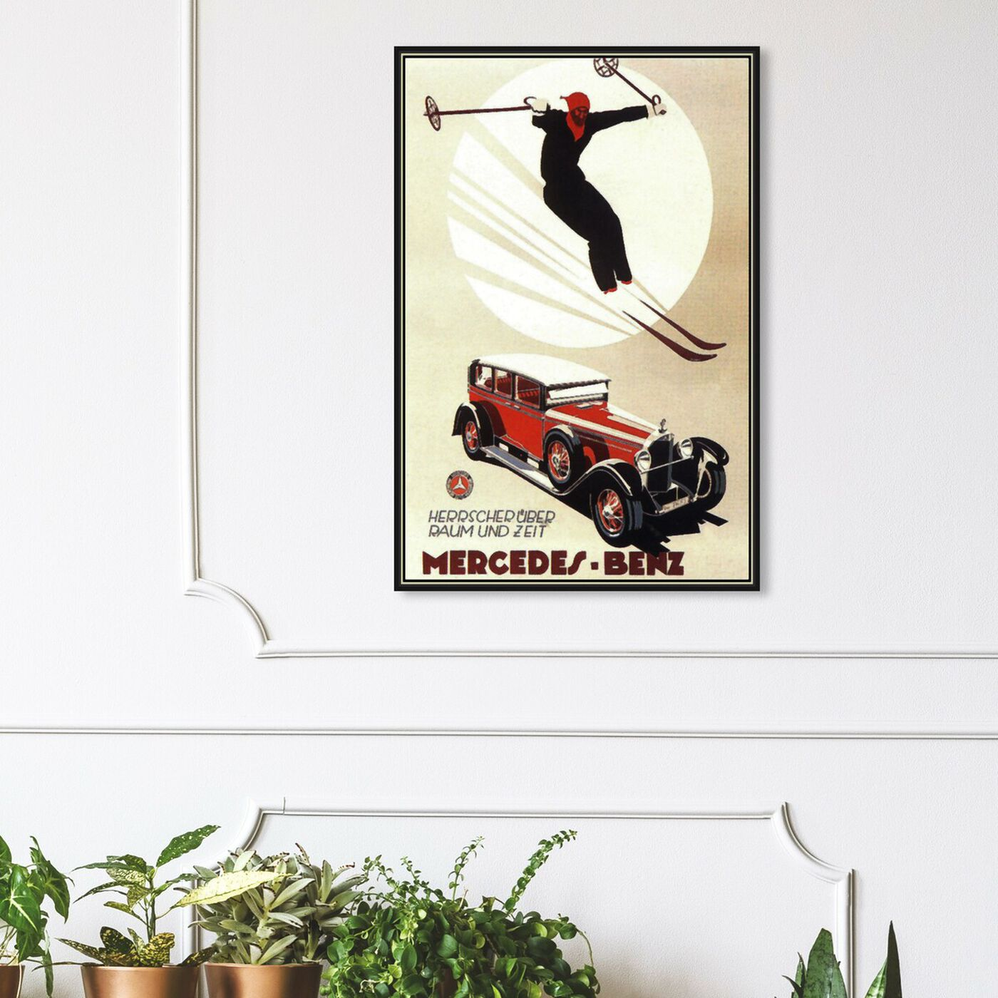 Hanging view of Luxury Skiing featuring sports and teams and skiing art.
