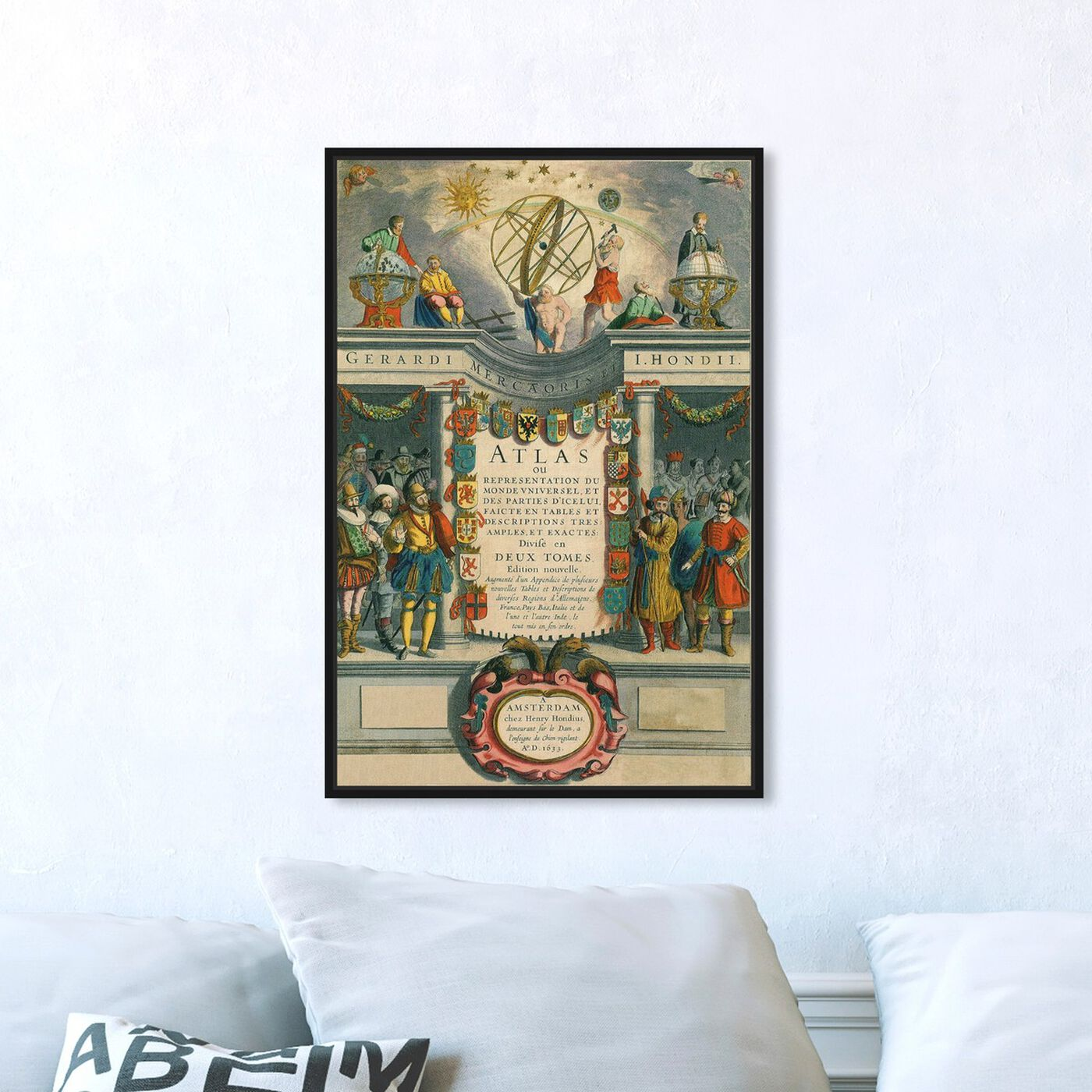 Hanging view of Atlas Monde featuring classic and figurative and renaissance art.