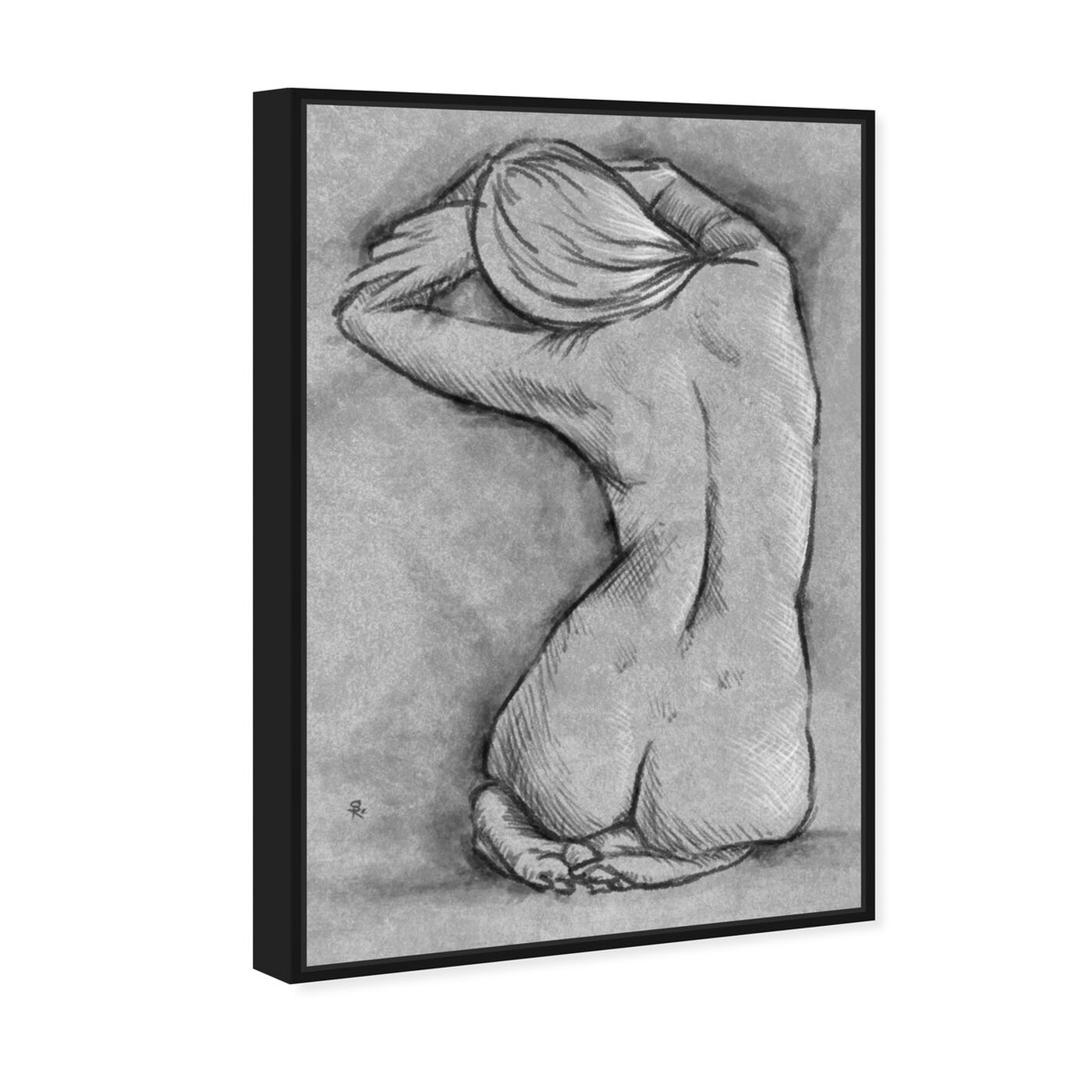 Angled view of Nude In Gray featuring people and portraits and nudes art.