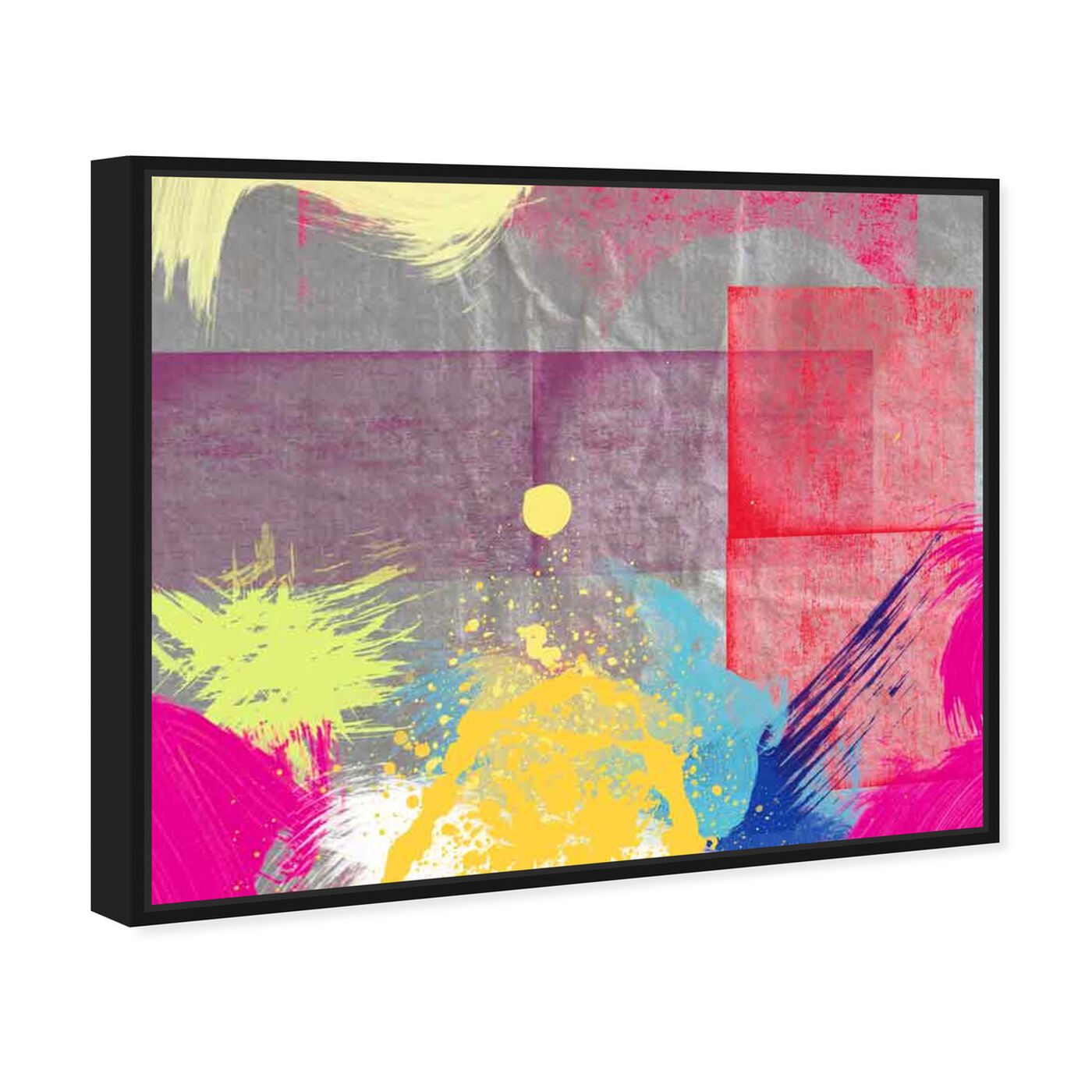 Angled view of Sunset featuring abstract and paint art.