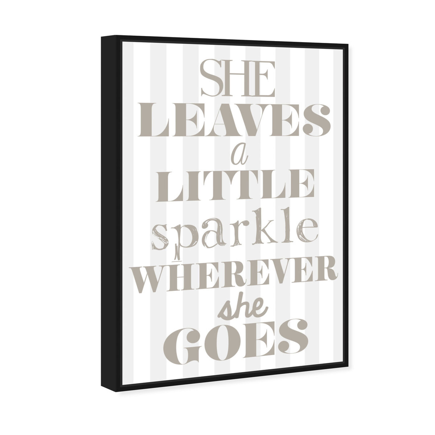 Angled view of Little Sparkle featuring typography and quotes and beauty quotes and sayings art.