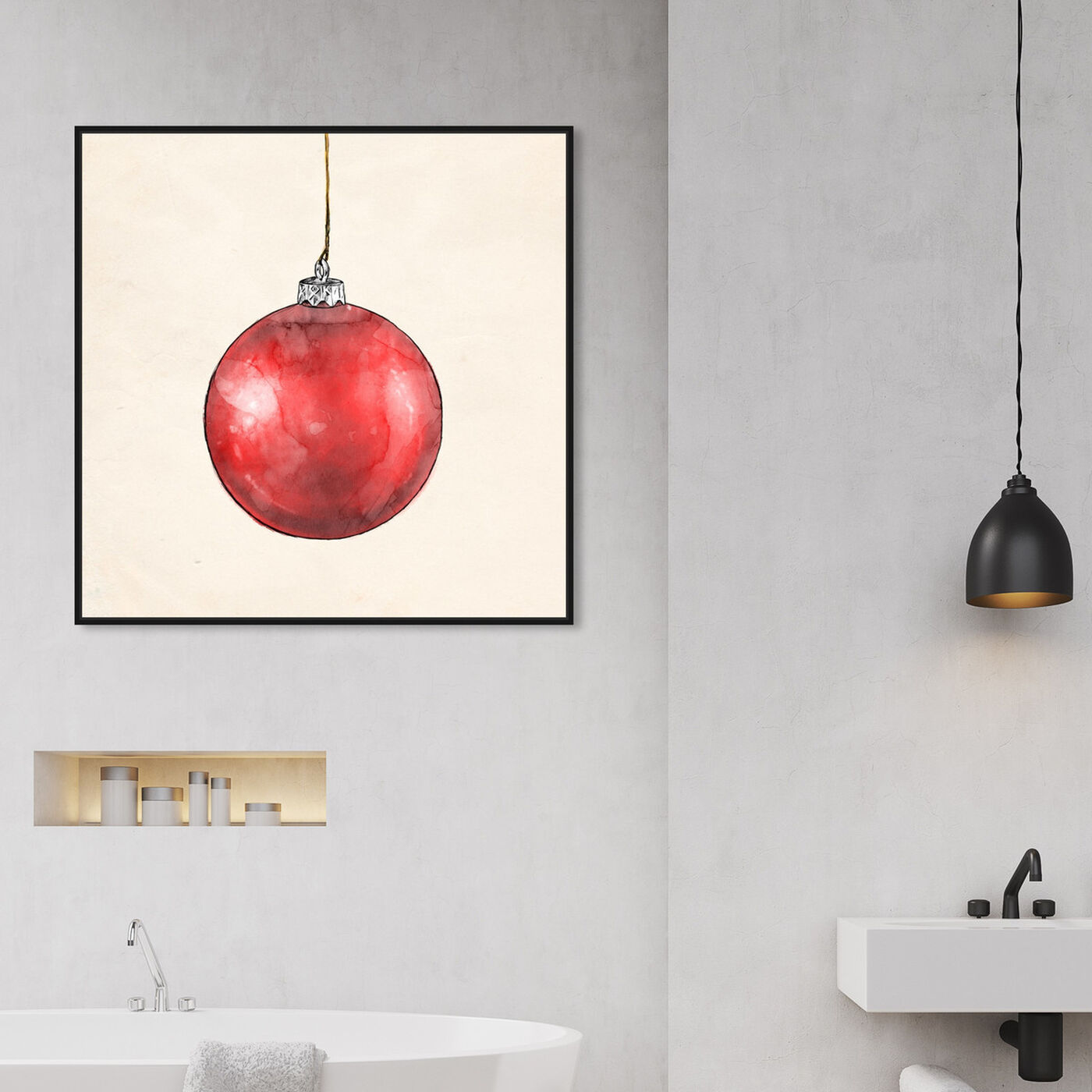 Hanging view of Red Season Dream featuring holiday and seasonal and holidays art.