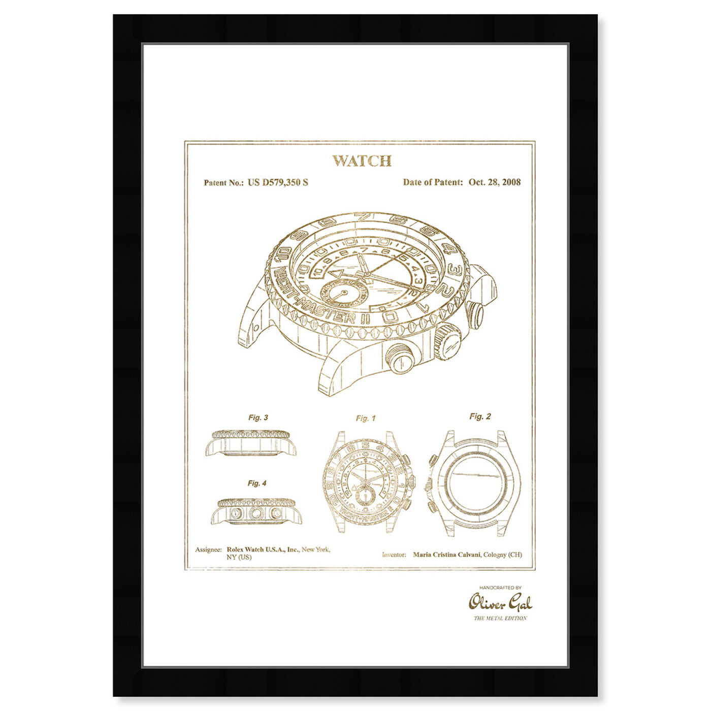 Front view of Watch 2008 Gold featuring fashion and glam and accessories art.