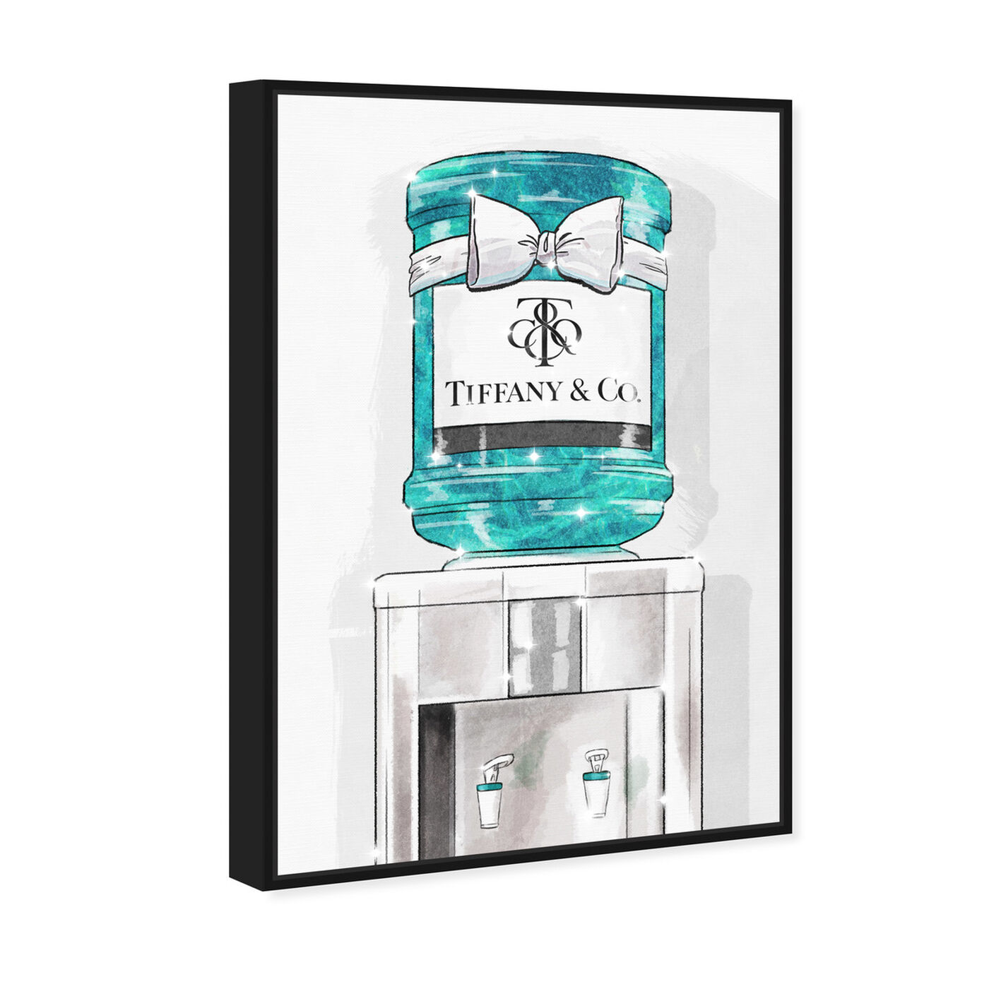 Angled view of Jeweled Watercooler featuring fashion and glam and lifestyle art.