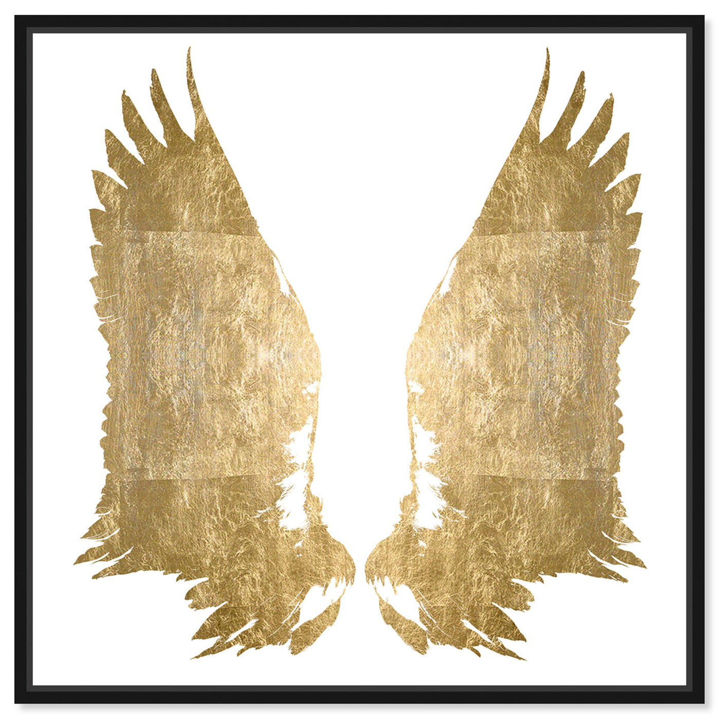 Front view of My Golden Wings Gold Foil featuring fashion and glam and wings art.