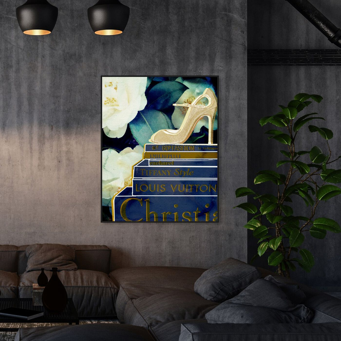 Hanging view of What's On My Mind Vanilla featuring fashion and glam and books art.