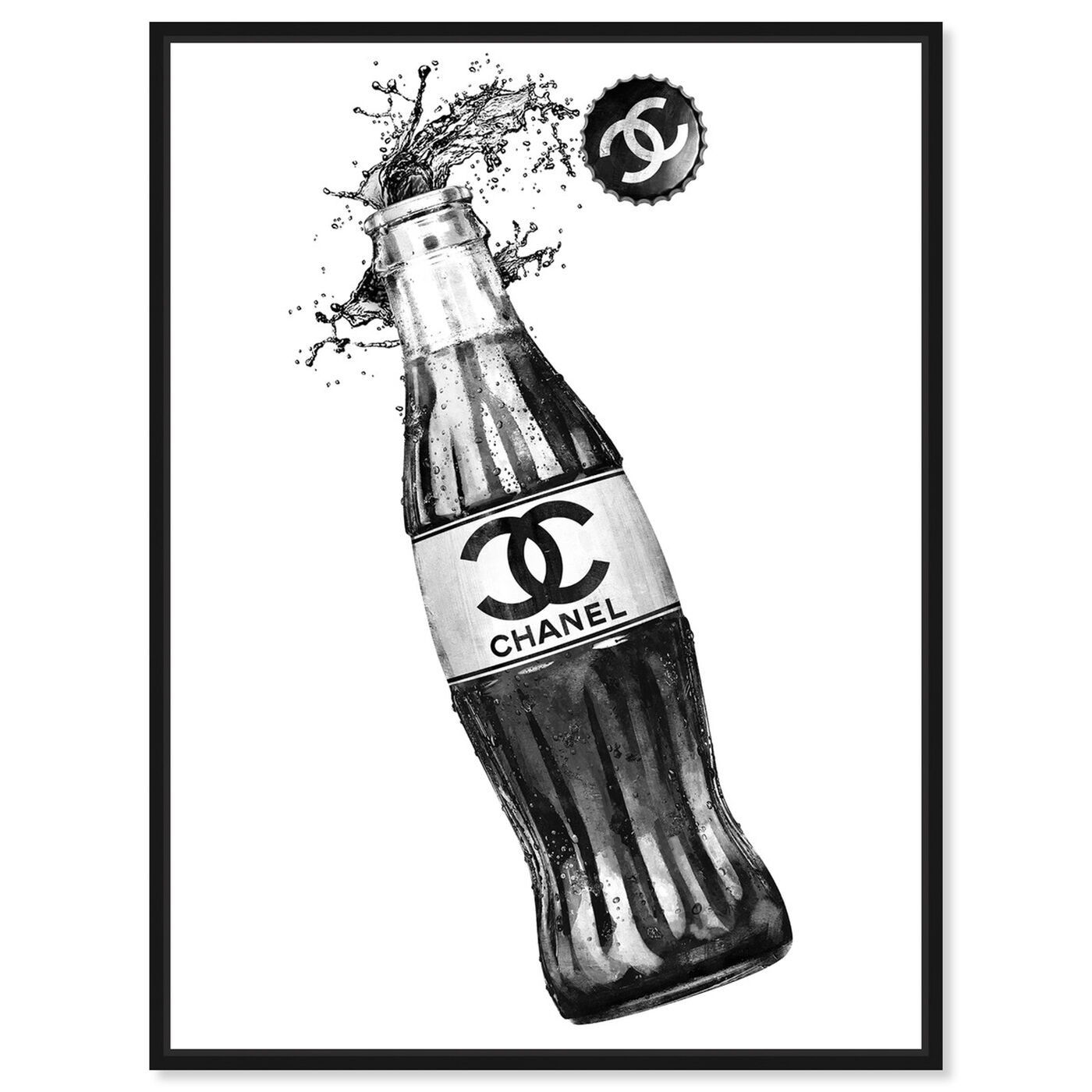 Front view of Fashion Soda Bottle featuring drinks and spirits and soda art.