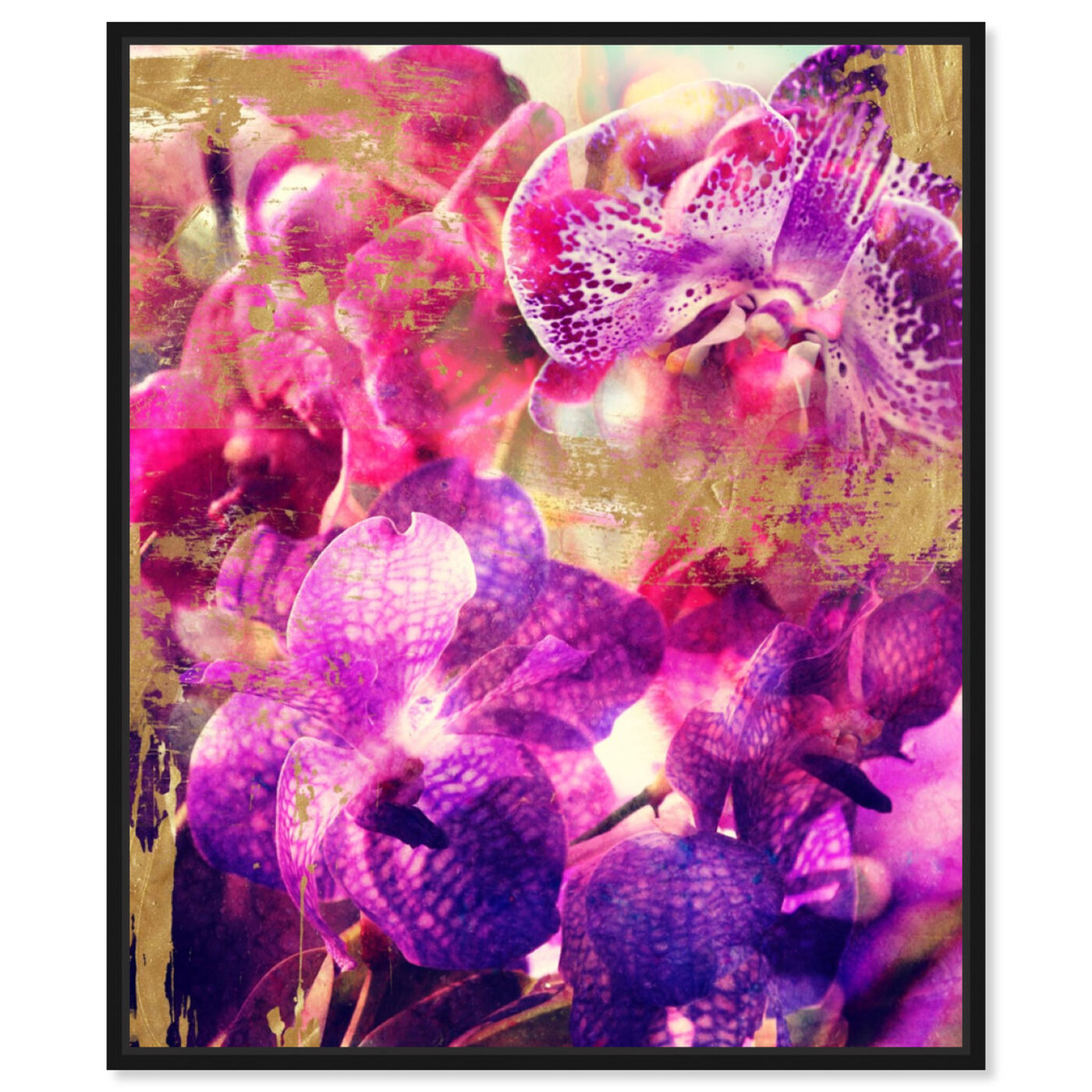 Front view of Orchid Gold featuring floral and botanical and florals art.