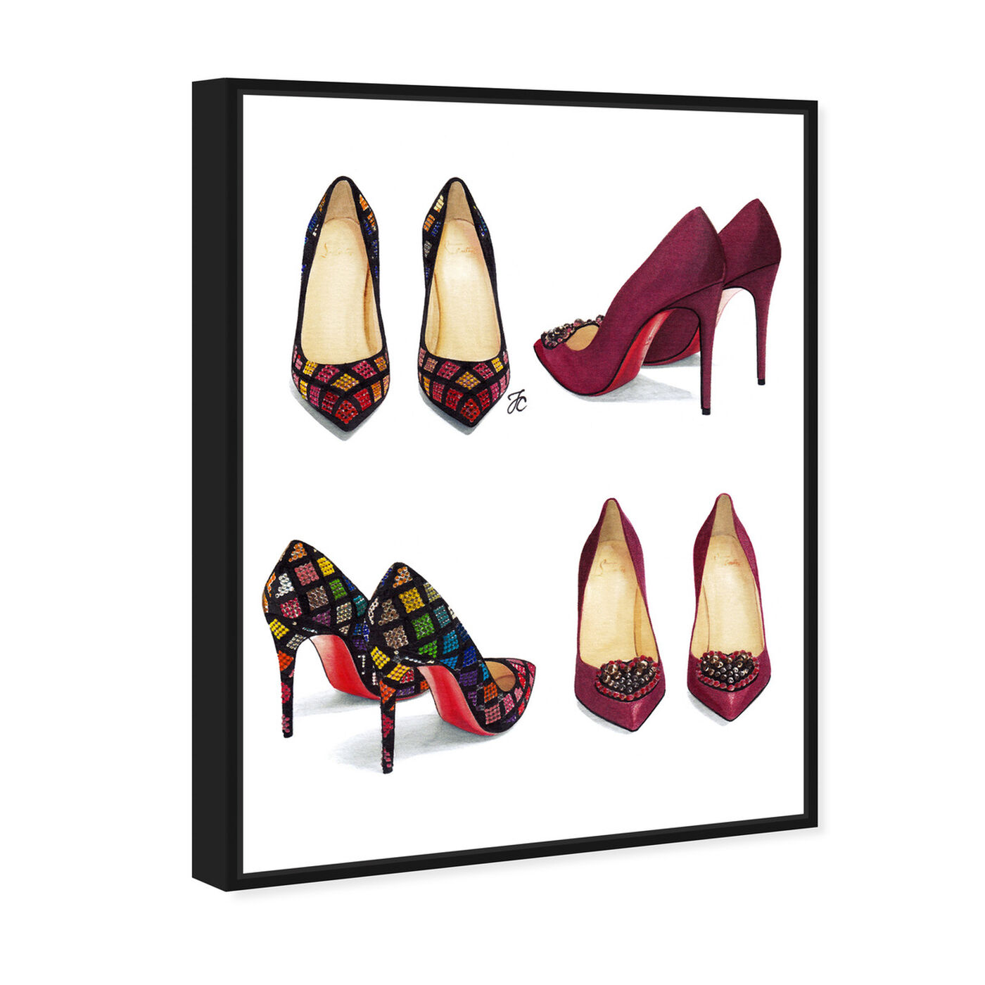 Angled view of Doll Memories - My Shoe Closet featuring fashion and glam and shoes art.
