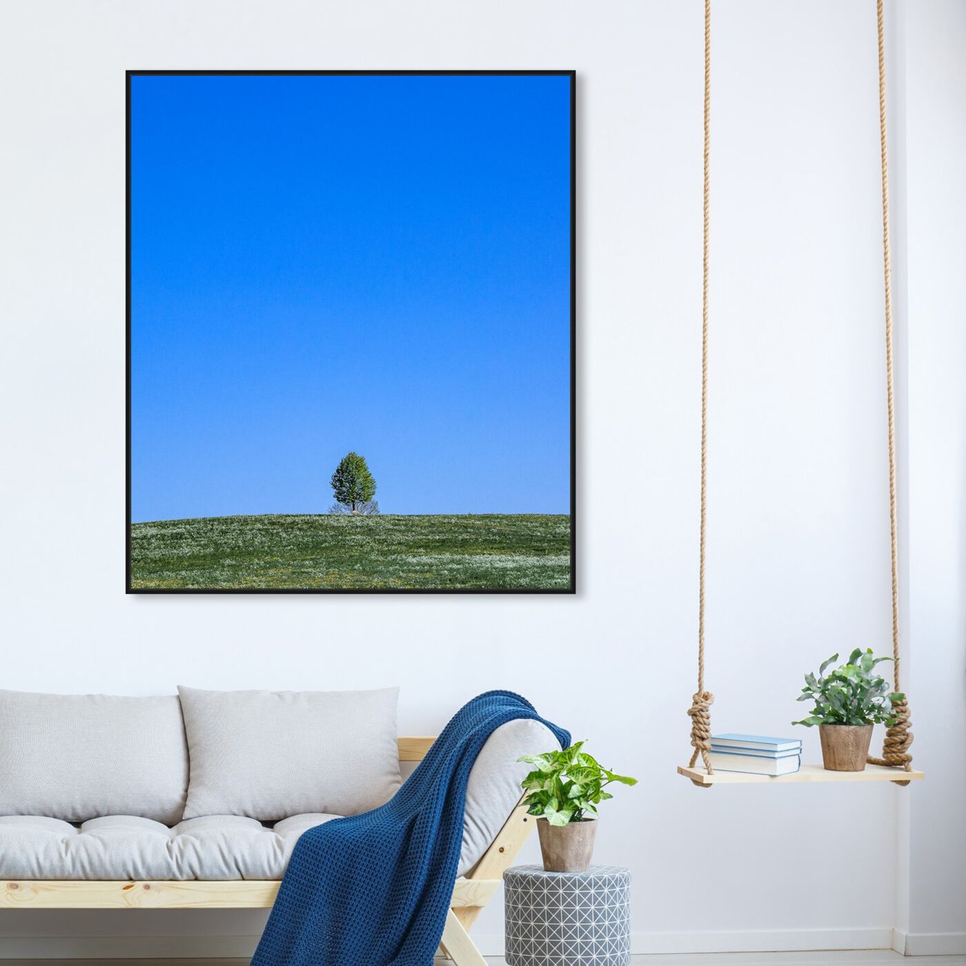 Hanging view of Curro Cardenal - Tranquility Field II featuring nature and landscape and skyscapes art.
