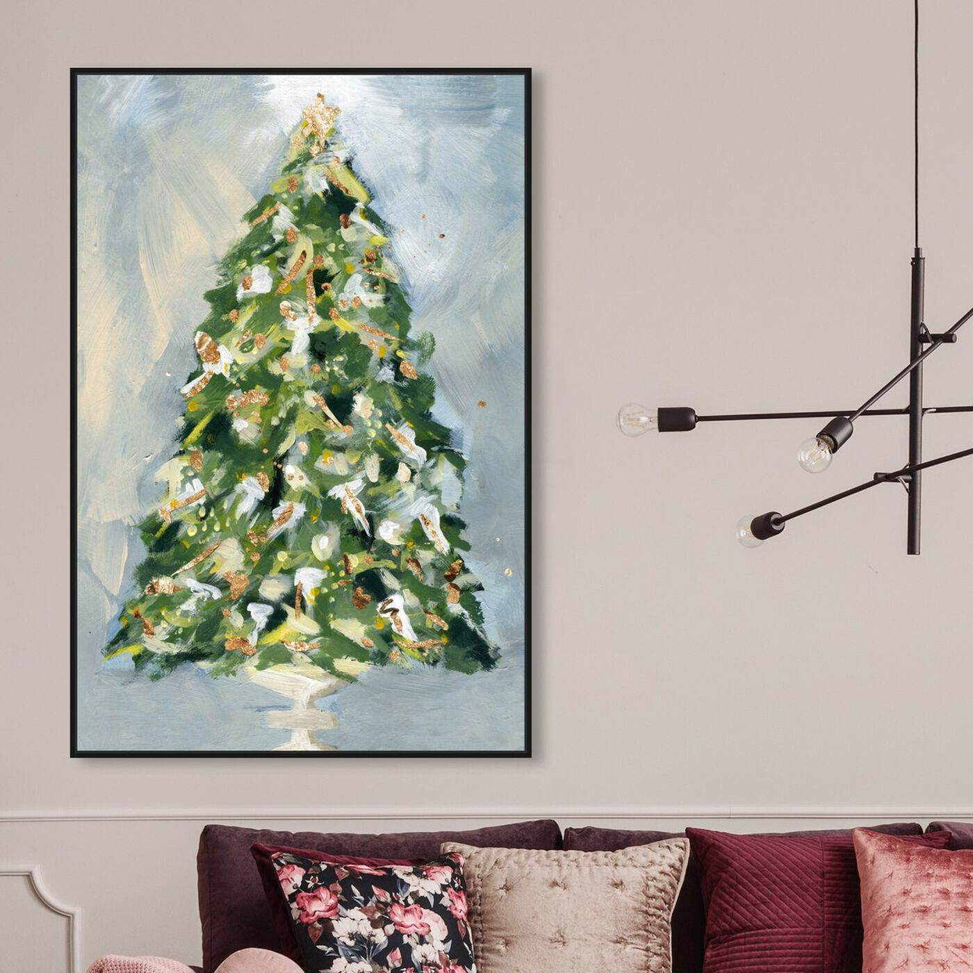 Hanging view of Christmas Tree 3 featuring holiday and seasonal and holidays art.
