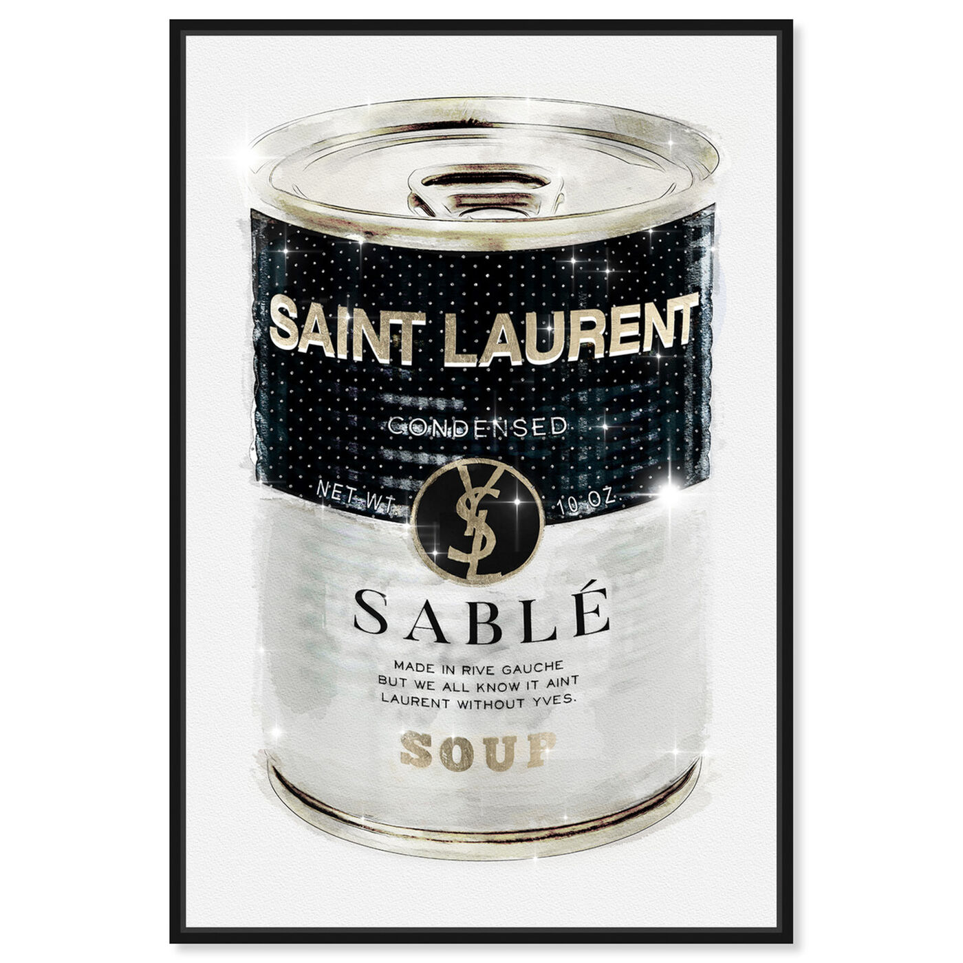 Front view of Rive Sable Soup Can Silver featuring fashion and glam and cans art.