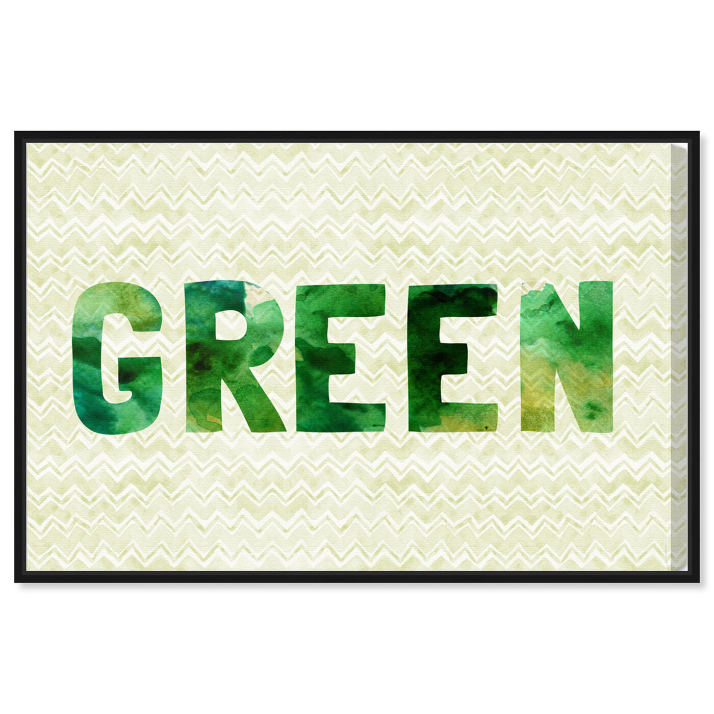 Front view of Green featuring typography and quotes and quotes and sayings art.