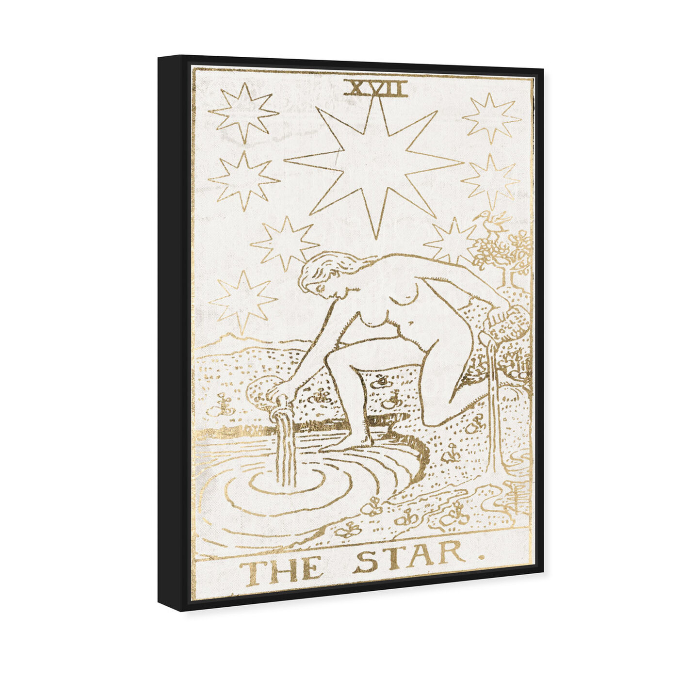 Angled view of The Star Tarot Luxe featuring spiritual and religious and zodiac art.