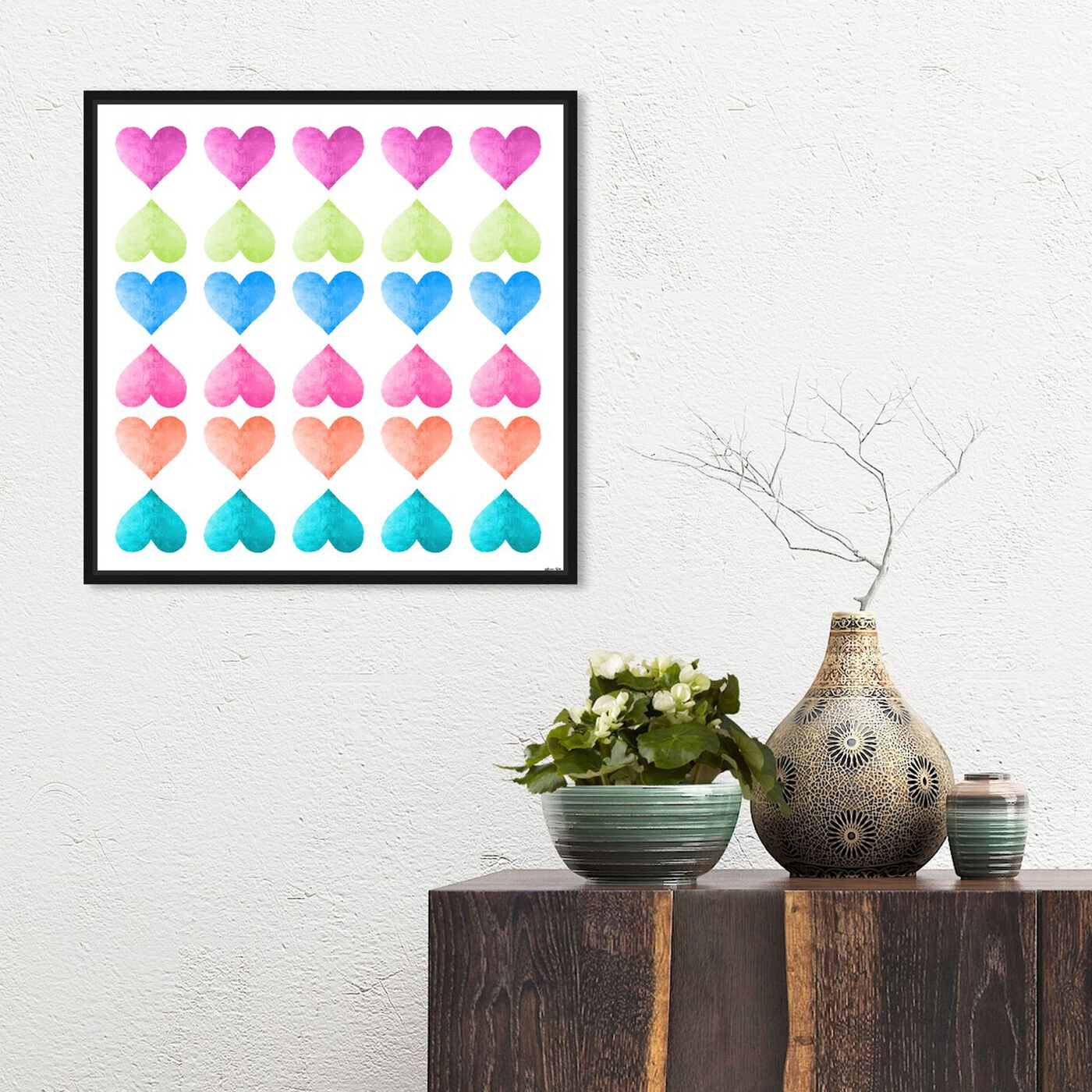 Hanging view of Love Game Fresh I featuring fashion and glam and hearts art.