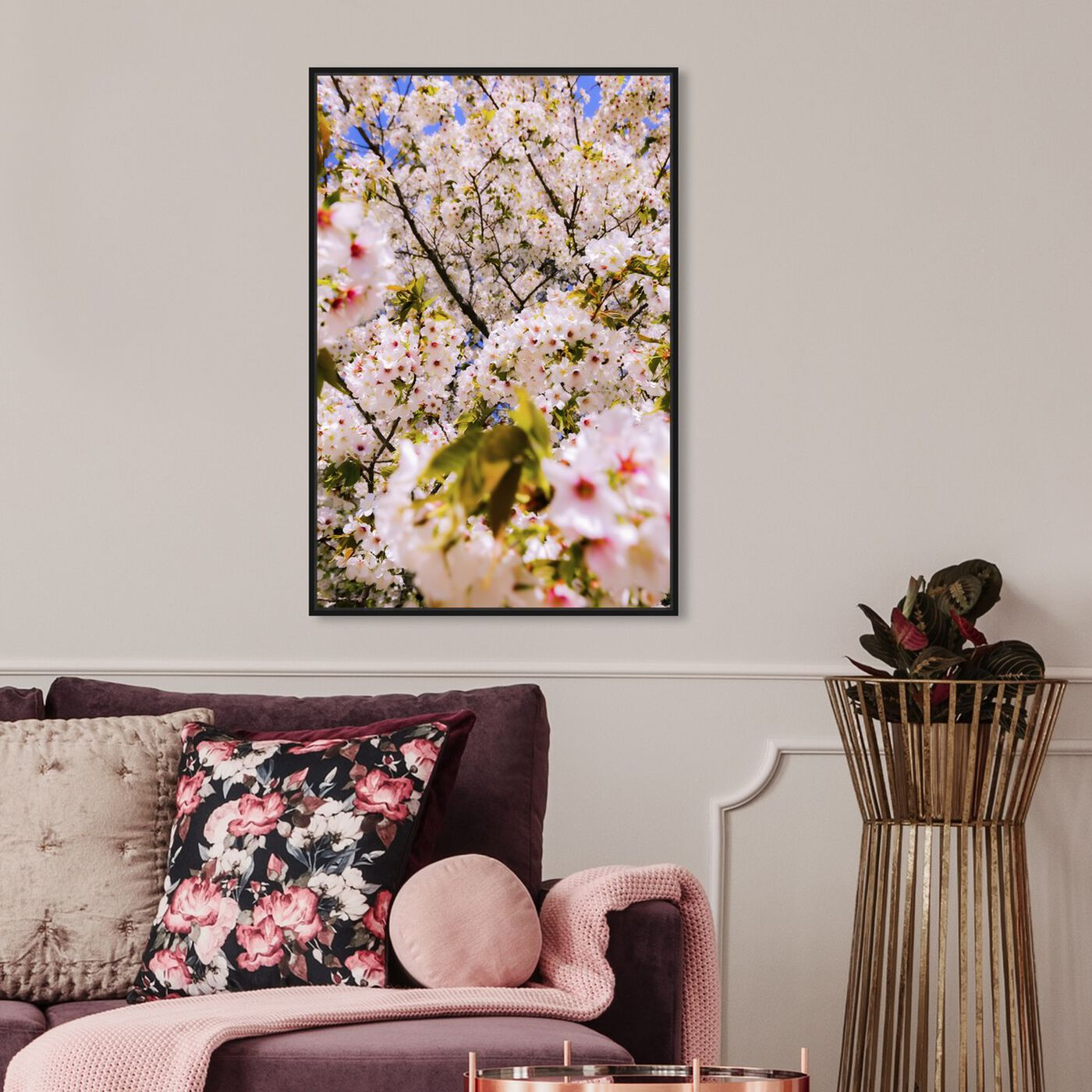 Hanging view of Curro Cardenal - Cherries Beautiful featuring floral and botanical and gardens art.