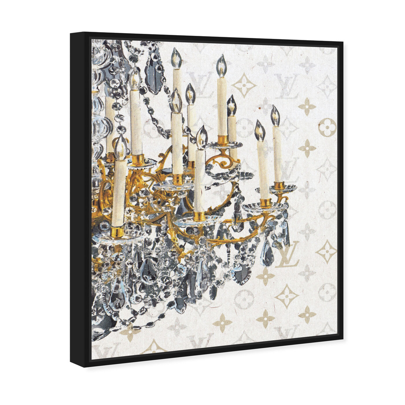 Angled view of Fancy Light II featuring fashion and glam and chandeliers art.