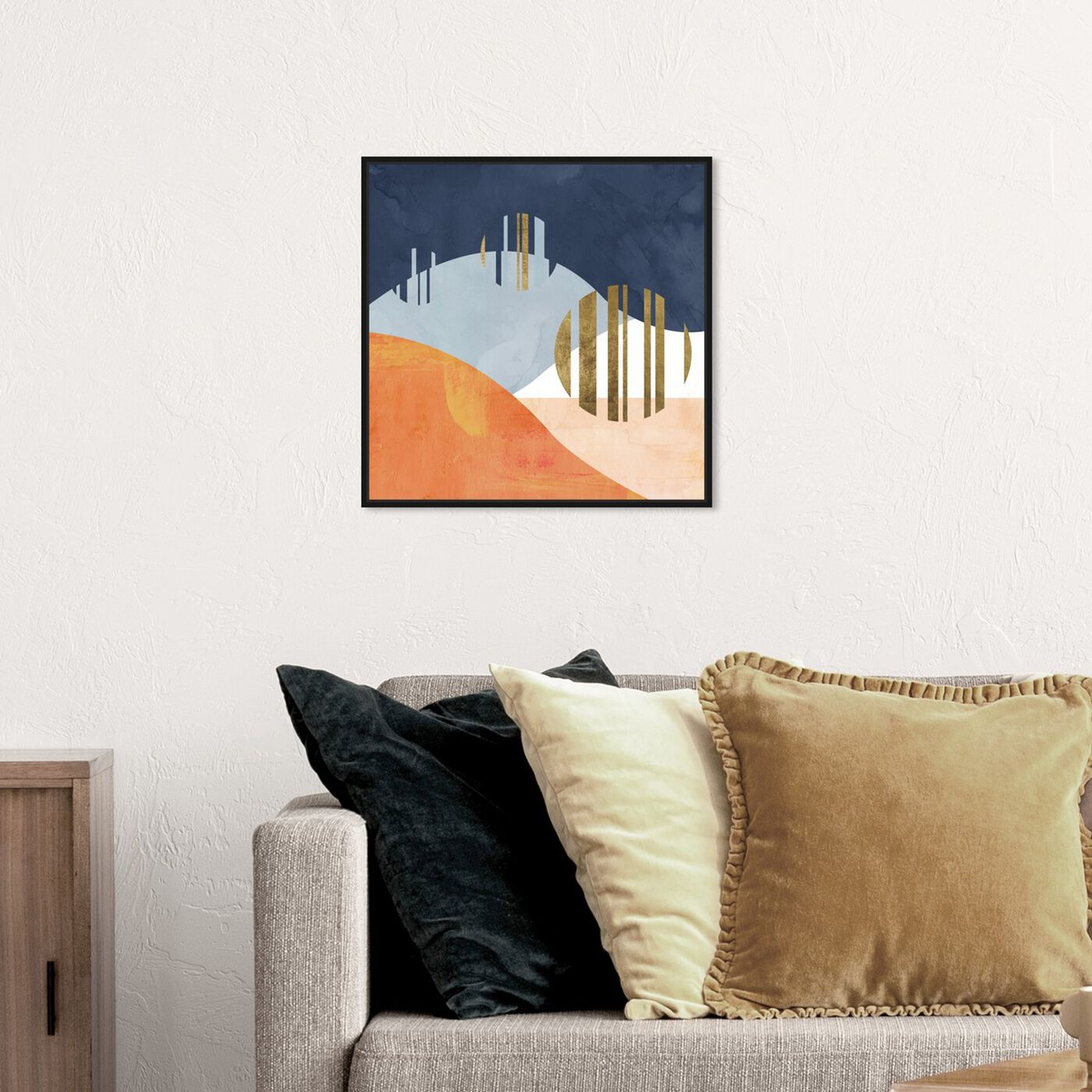 Hanging view of The Desert Night featuring abstract and geometric art.