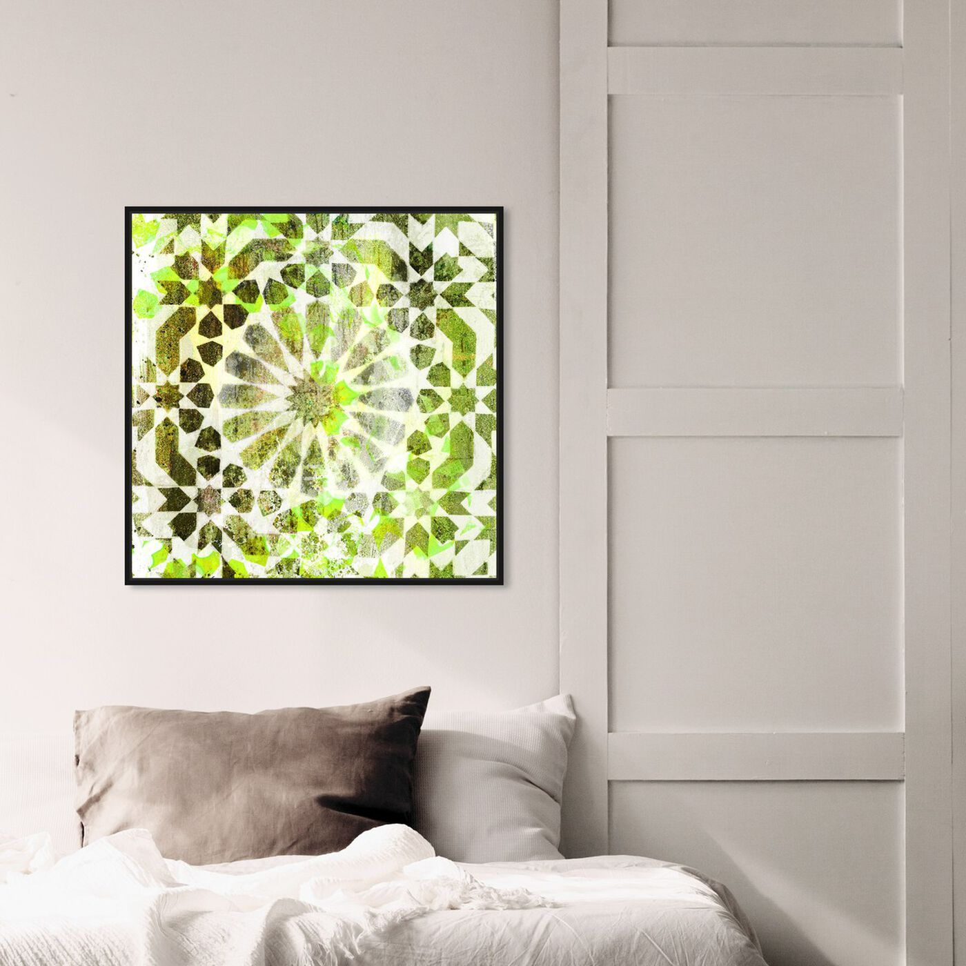 Hanging view of Majid Vert featuring abstract and patterns art.