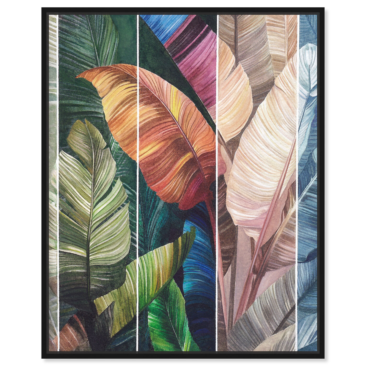 Front view of Tropical Leaves Views featuring floral and botanical and botanicals art.