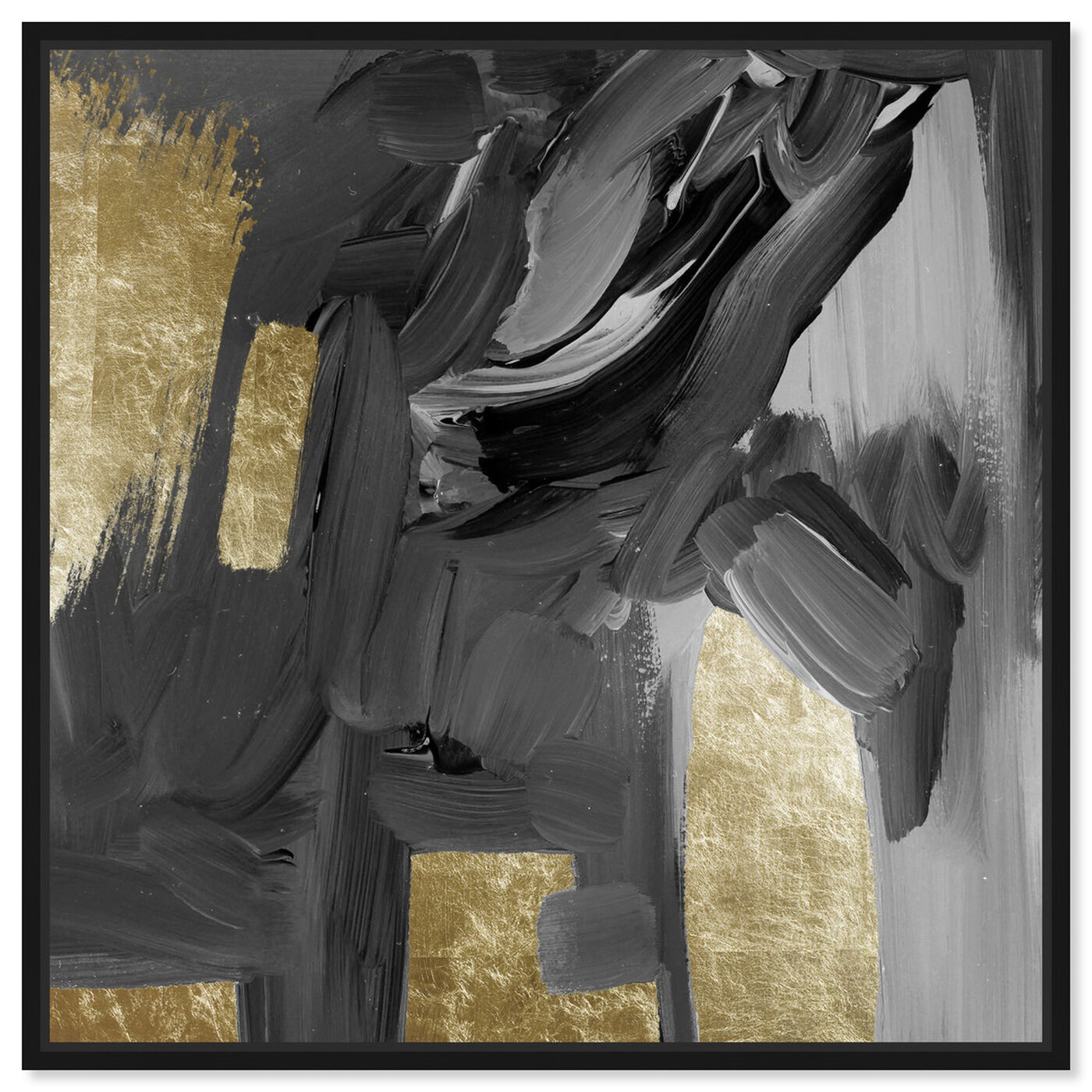 Front view of Mighty Gold featuring abstract and paint art.
