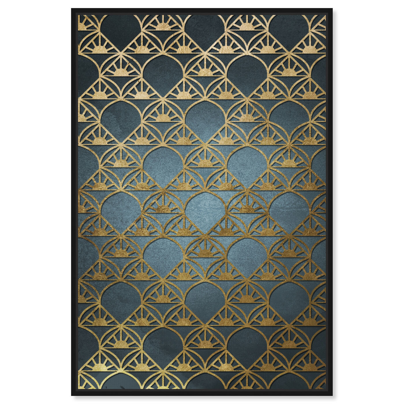 Front view of Gold Deco featuring abstract and patterns art.