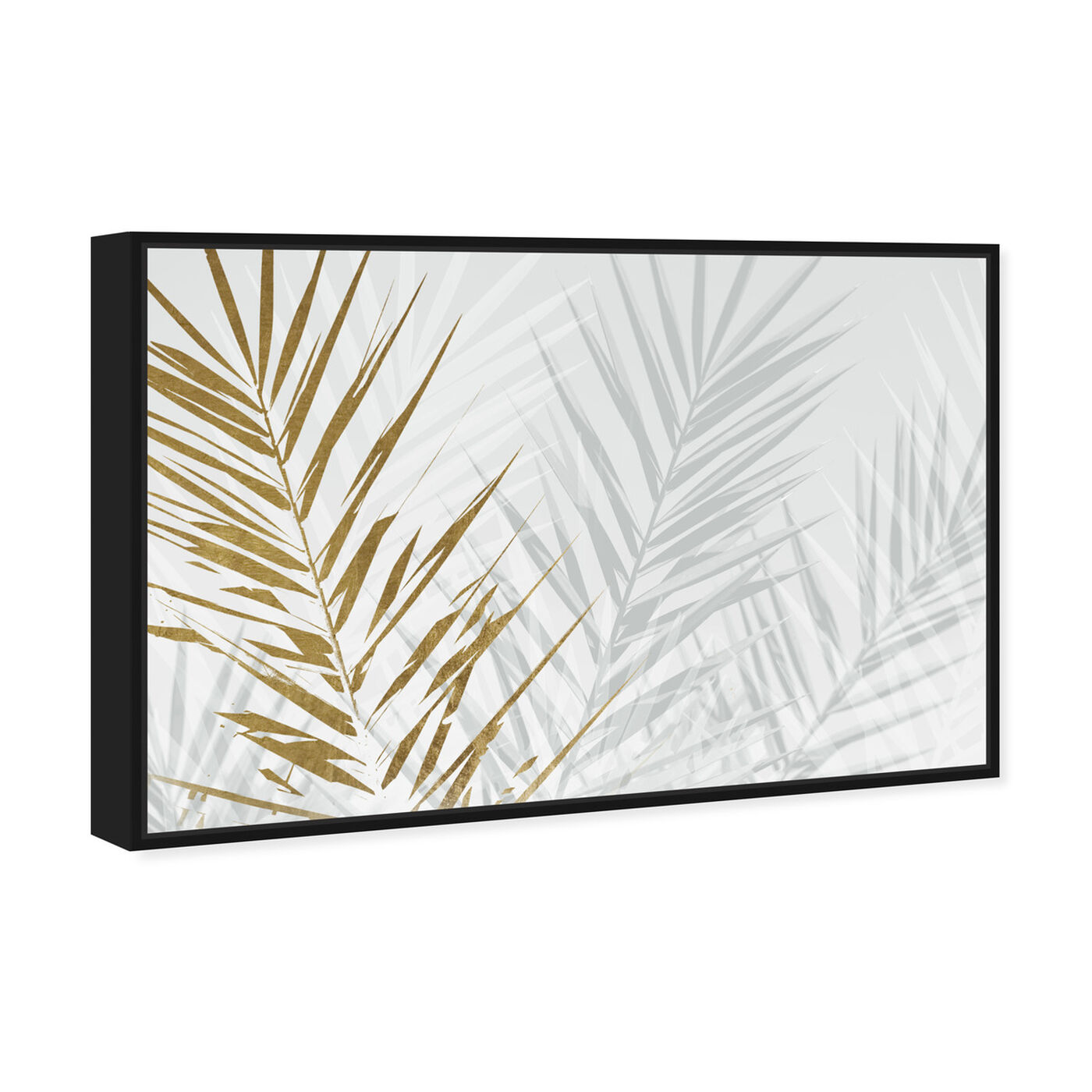 Angled view of Eucalyptus Palm Gold featuring floral and botanical and botanicals art.