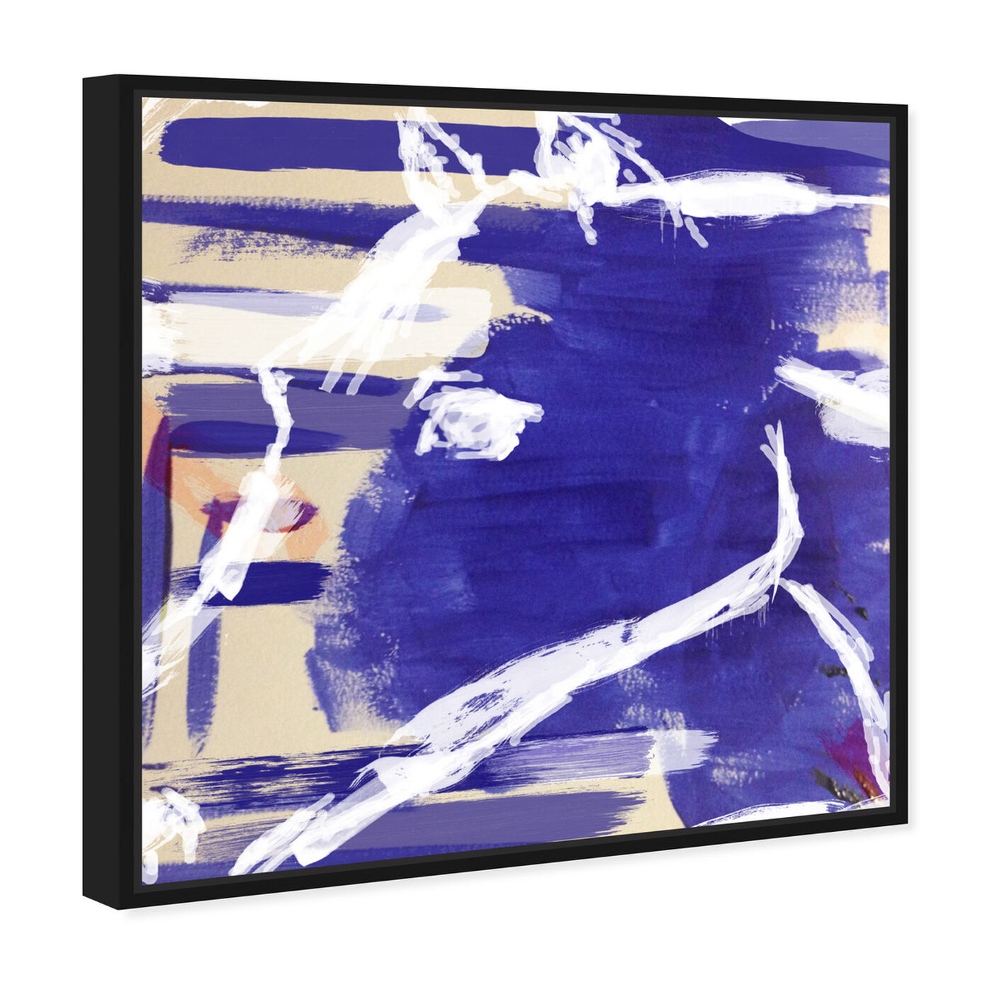 Angled view of Equus featuring abstract and paint art.