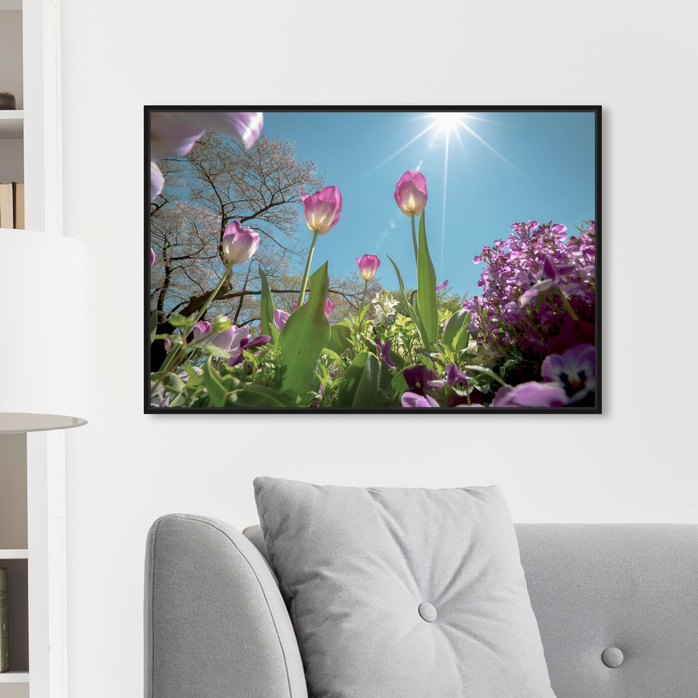 Hanging view of Curro Cardenal - Garden Full of Flowers featuring floral and botanical and florals art.
