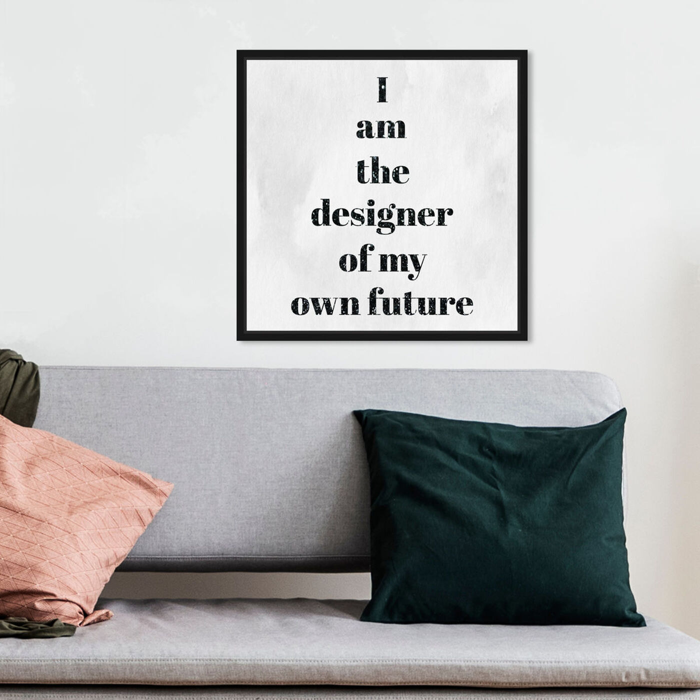 Hanging view of Designer of my future featuring typography and quotes and motivational quotes and sayings art.