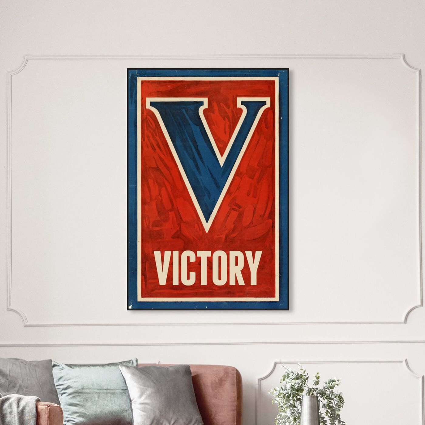Hanging view of Victory featuring typography and quotes and letters and calligraphy art.