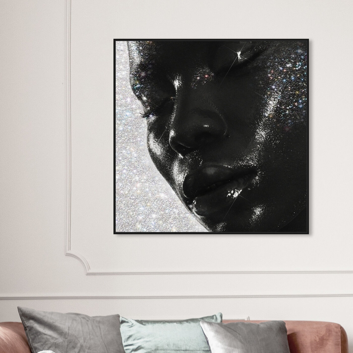 Hanging view of Moment of Pure Bliss featuring fashion and glam and portraits art.