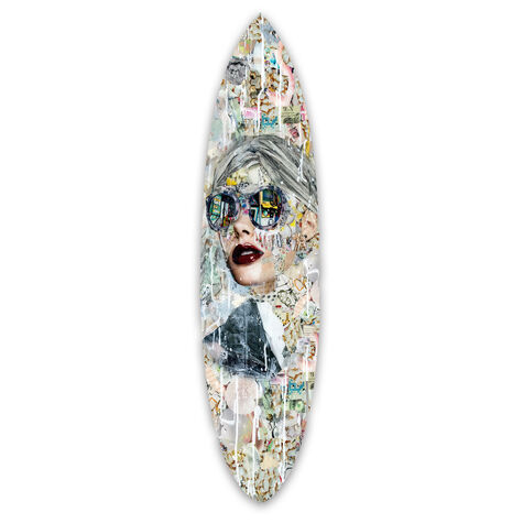 Katy Hirschfeld - Galaxy Surfboard