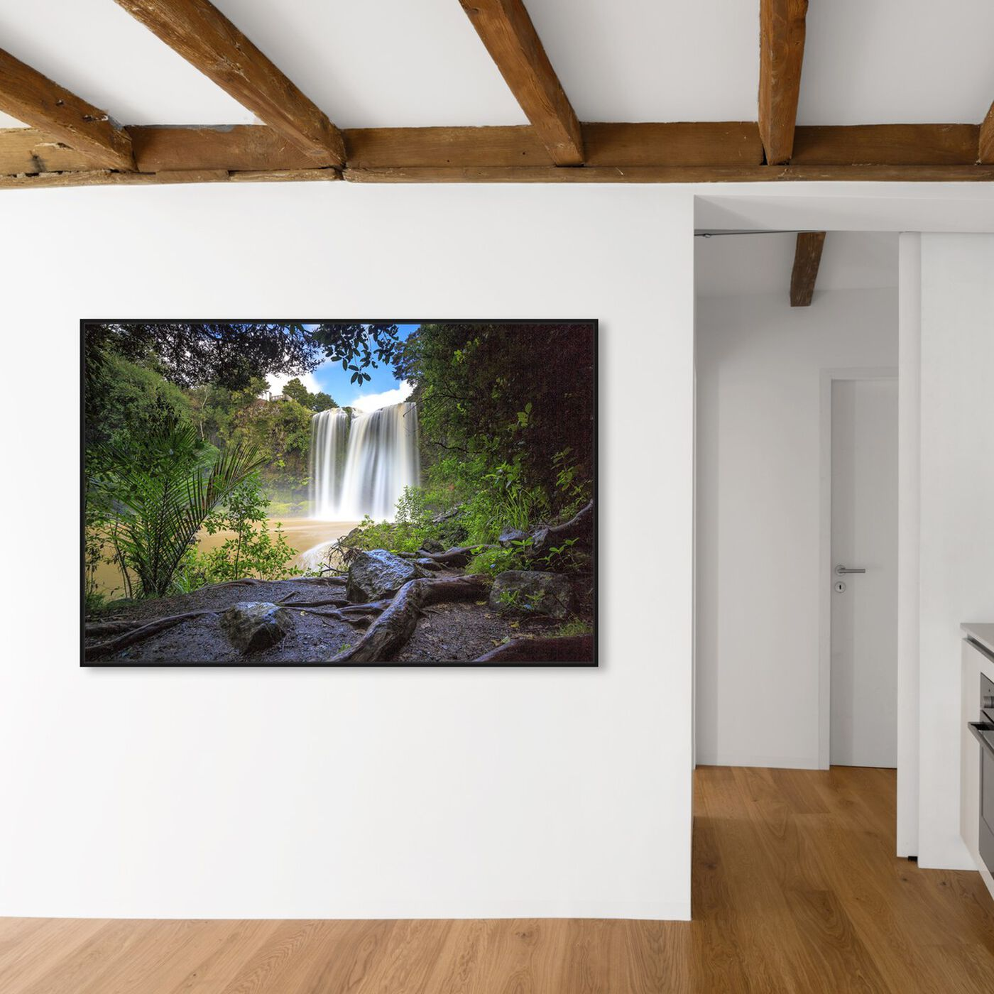 Hanging view of Curro Cardenal - Rainforest featuring nature and landscape and forest landscapes art.