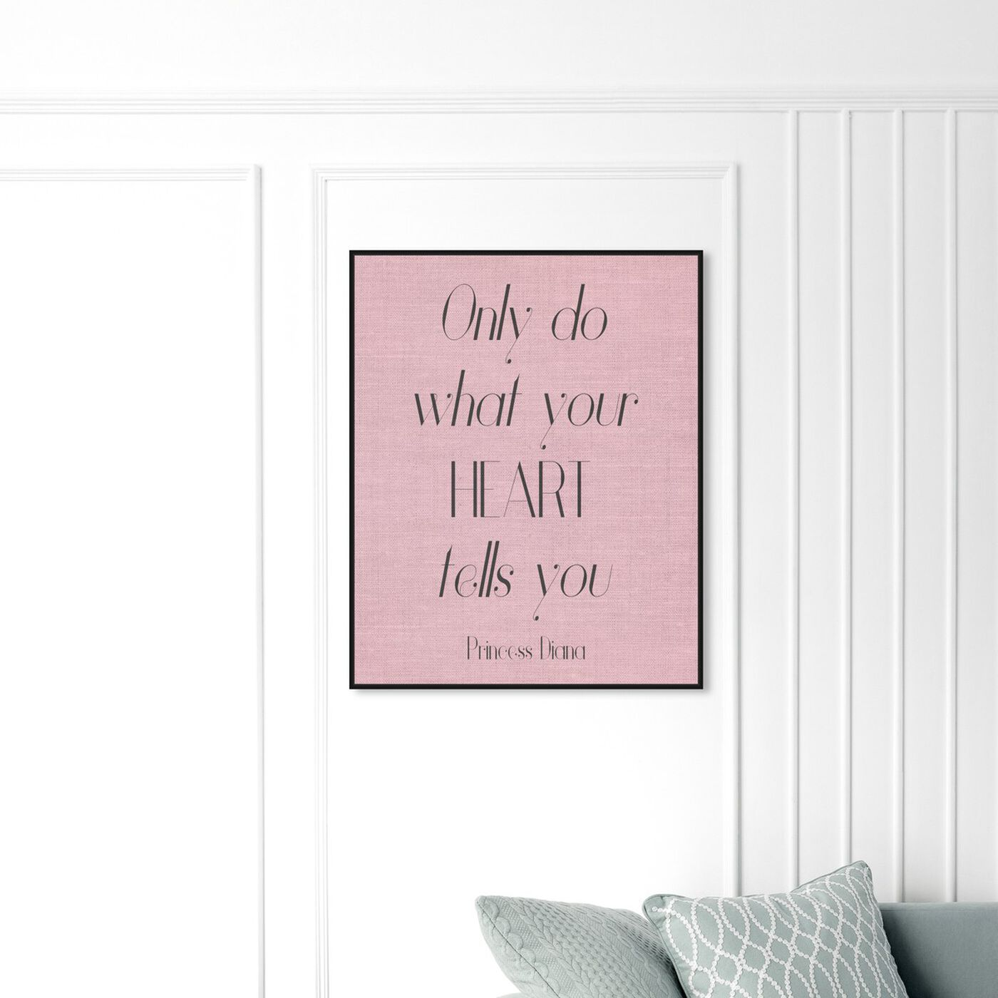 Hanging view of What Your Heart Says featuring typography and quotes and inspirational quotes and sayings art.