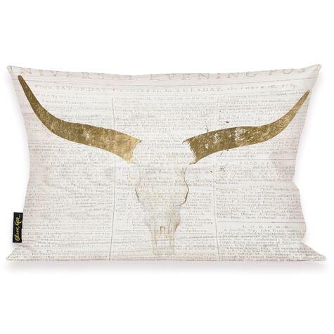 Evening Desert Skull Pillow