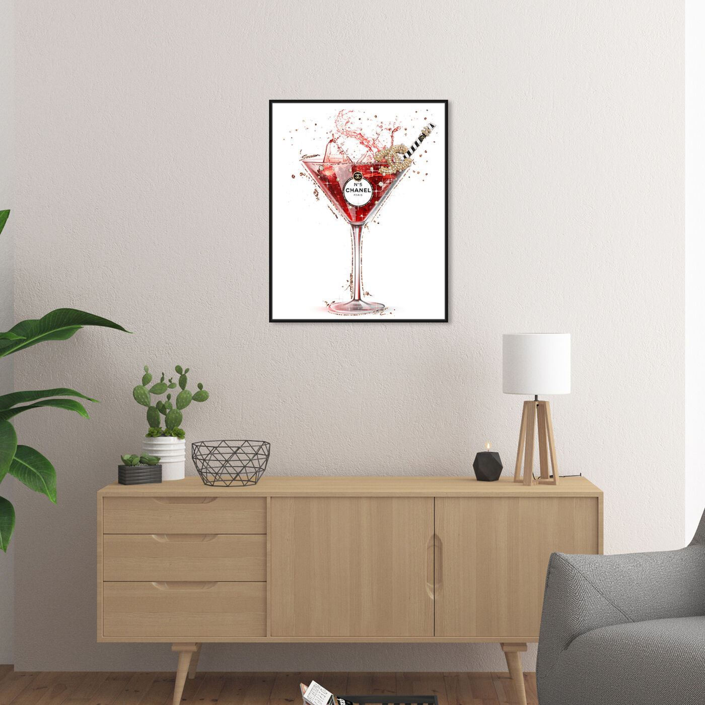 Hanging view of A Parisian Toast featuring drinks and spirits and cocktails art.
